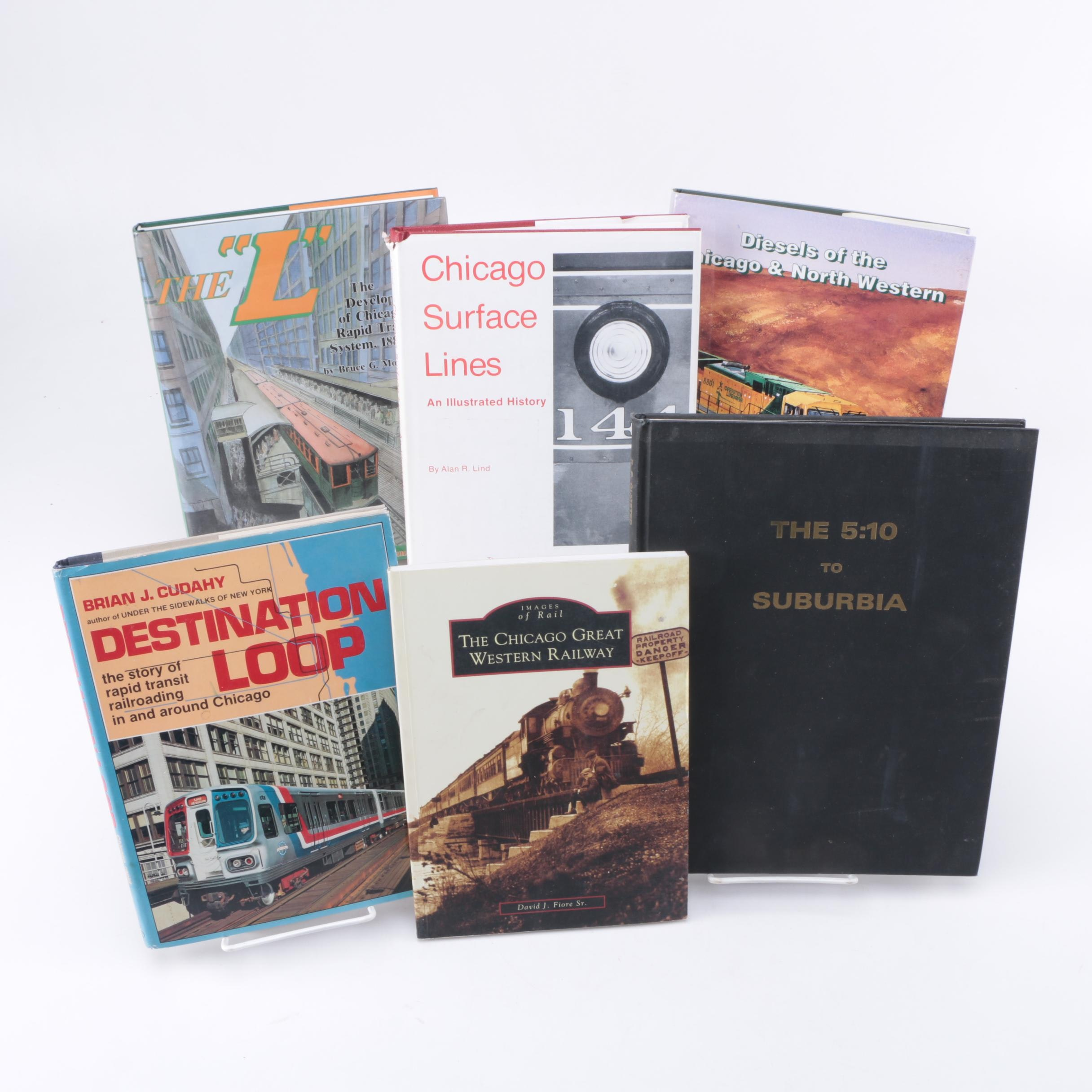 "Chicago Railway Books Featuring ""The 5:10 to Suburbia"" with Punched BN Ticket"