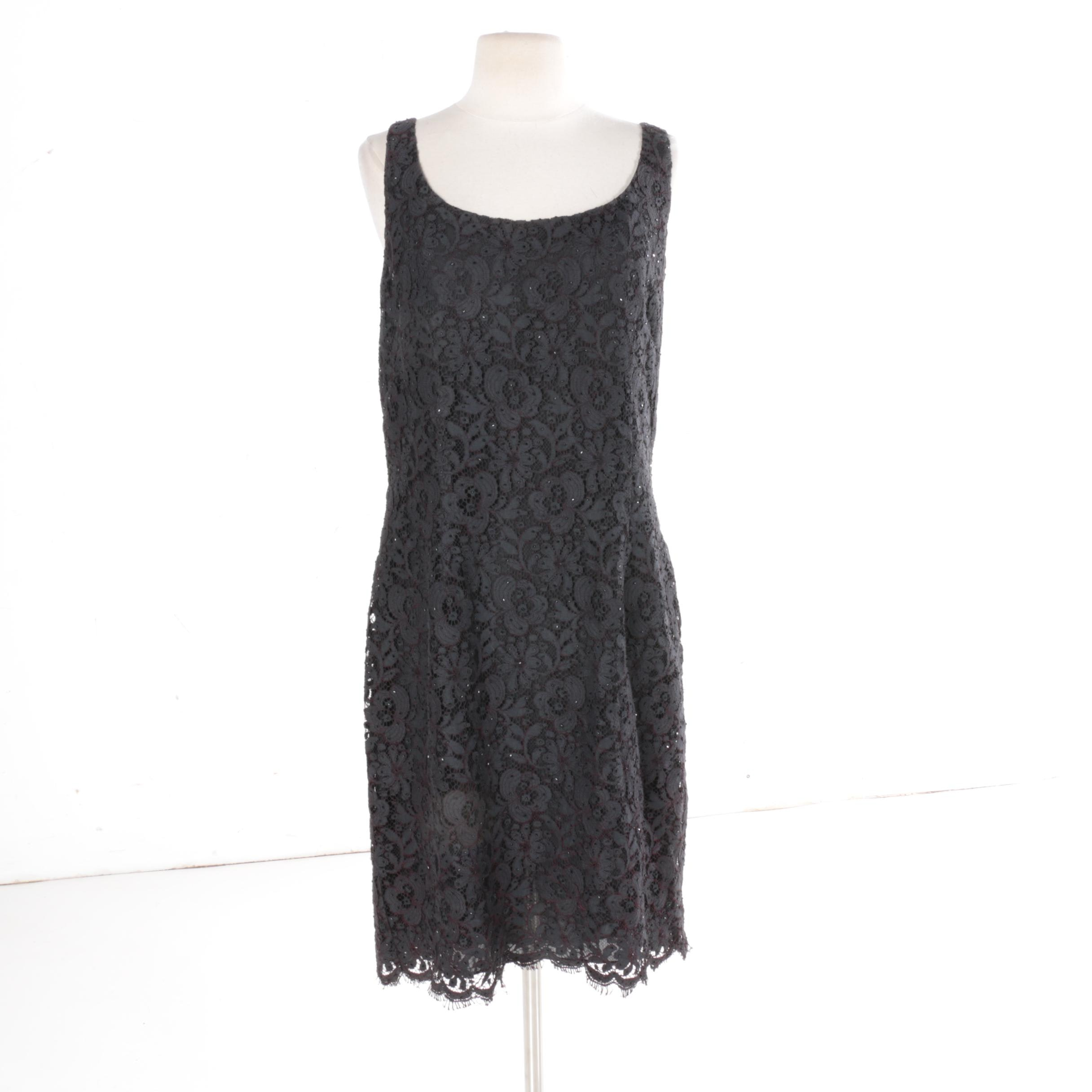 Ann Taylor Beaded Lace Dress