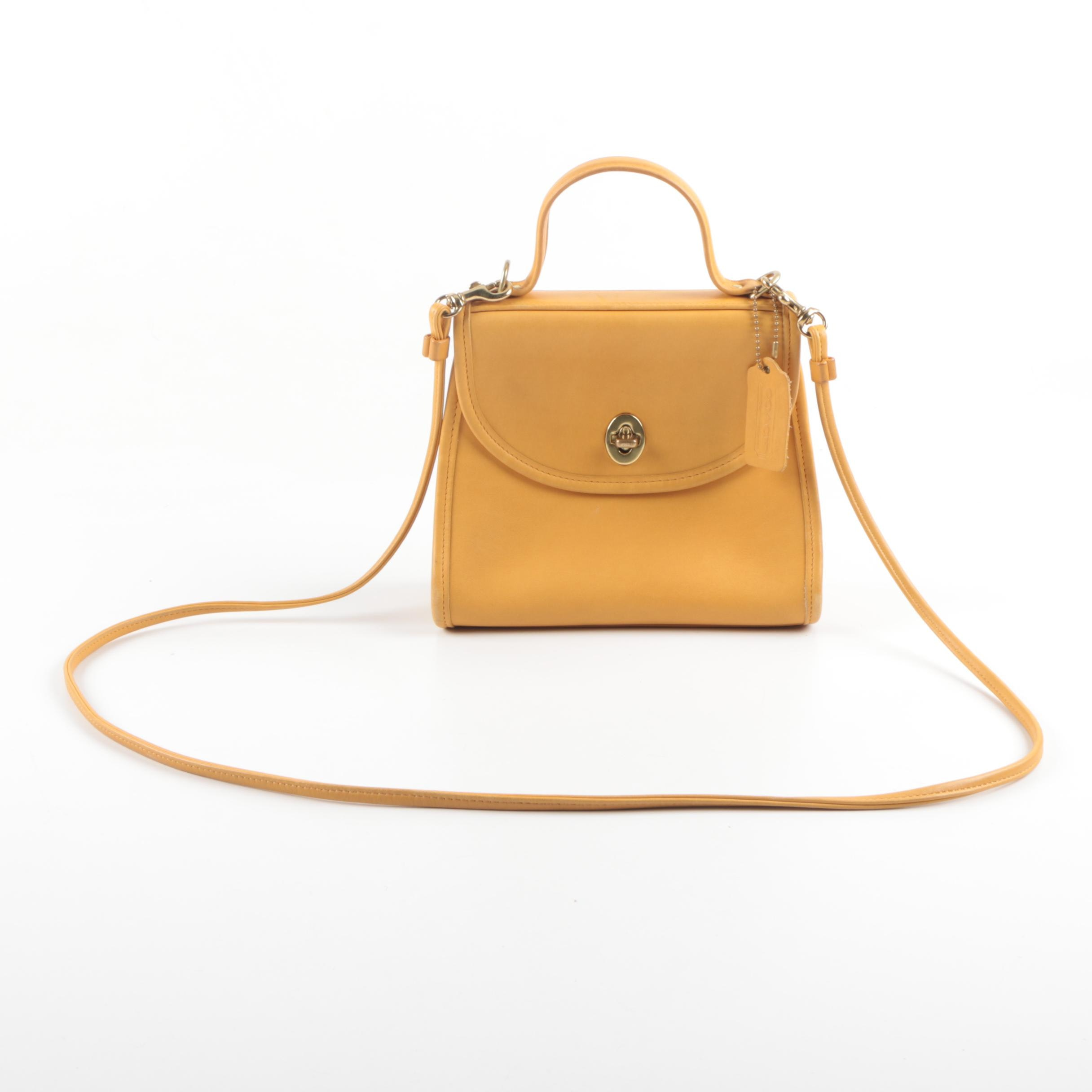 Coach Mustard Yellow Leather Regina Crossbody Bag