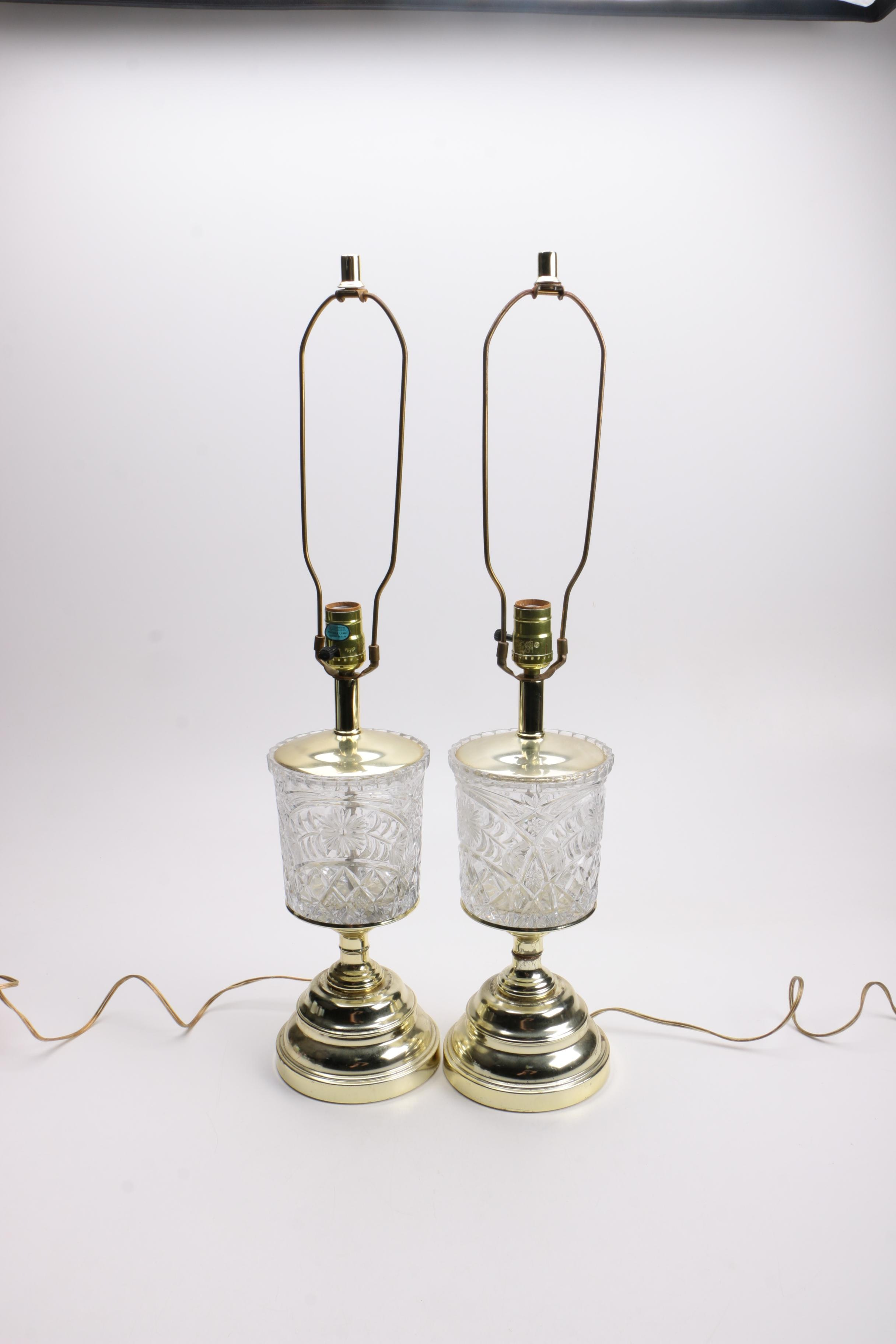 Pressed Glass Table Lamps