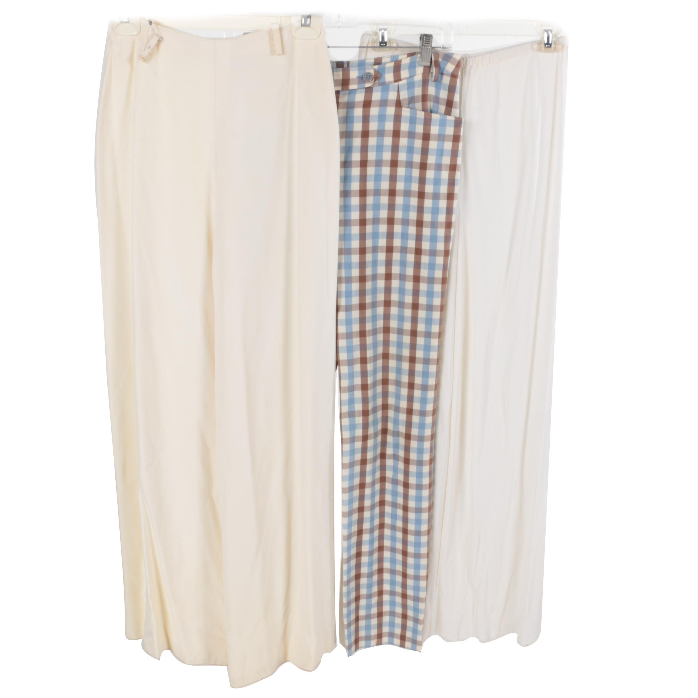 Women's Vintage Trousers Including Check Print