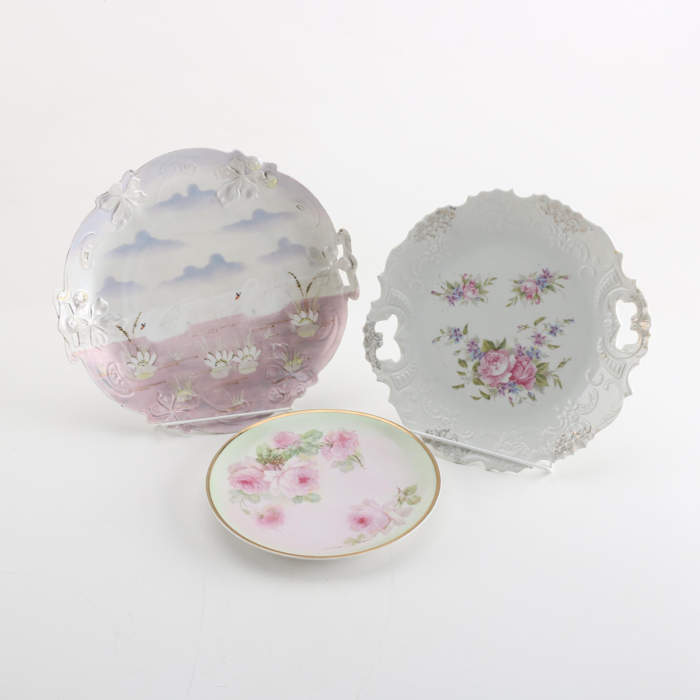 Vintage Porcelain Plates Including C. Tielsch & Co.