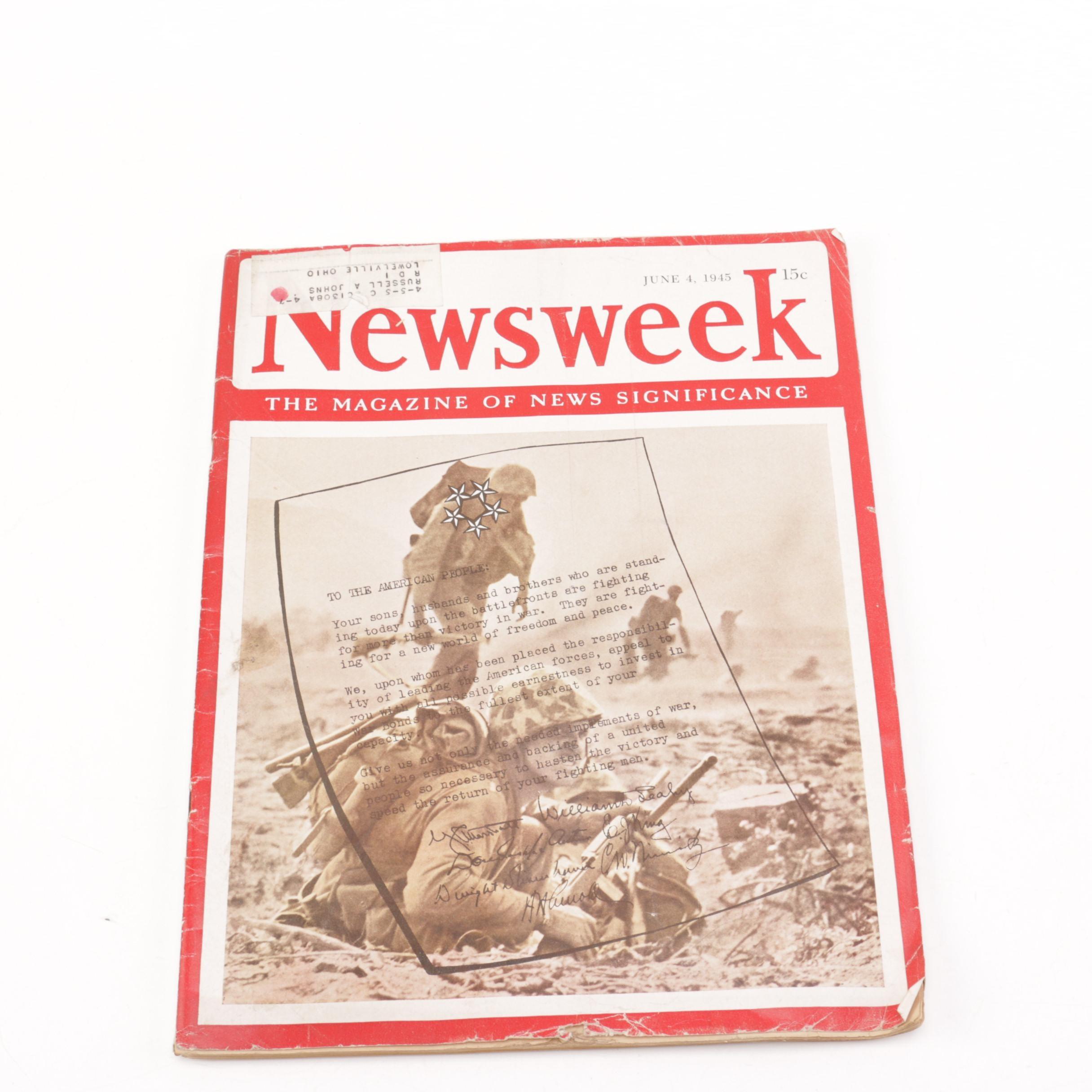 """1945 """"Newsweek"""" War Bonds Magazine"""