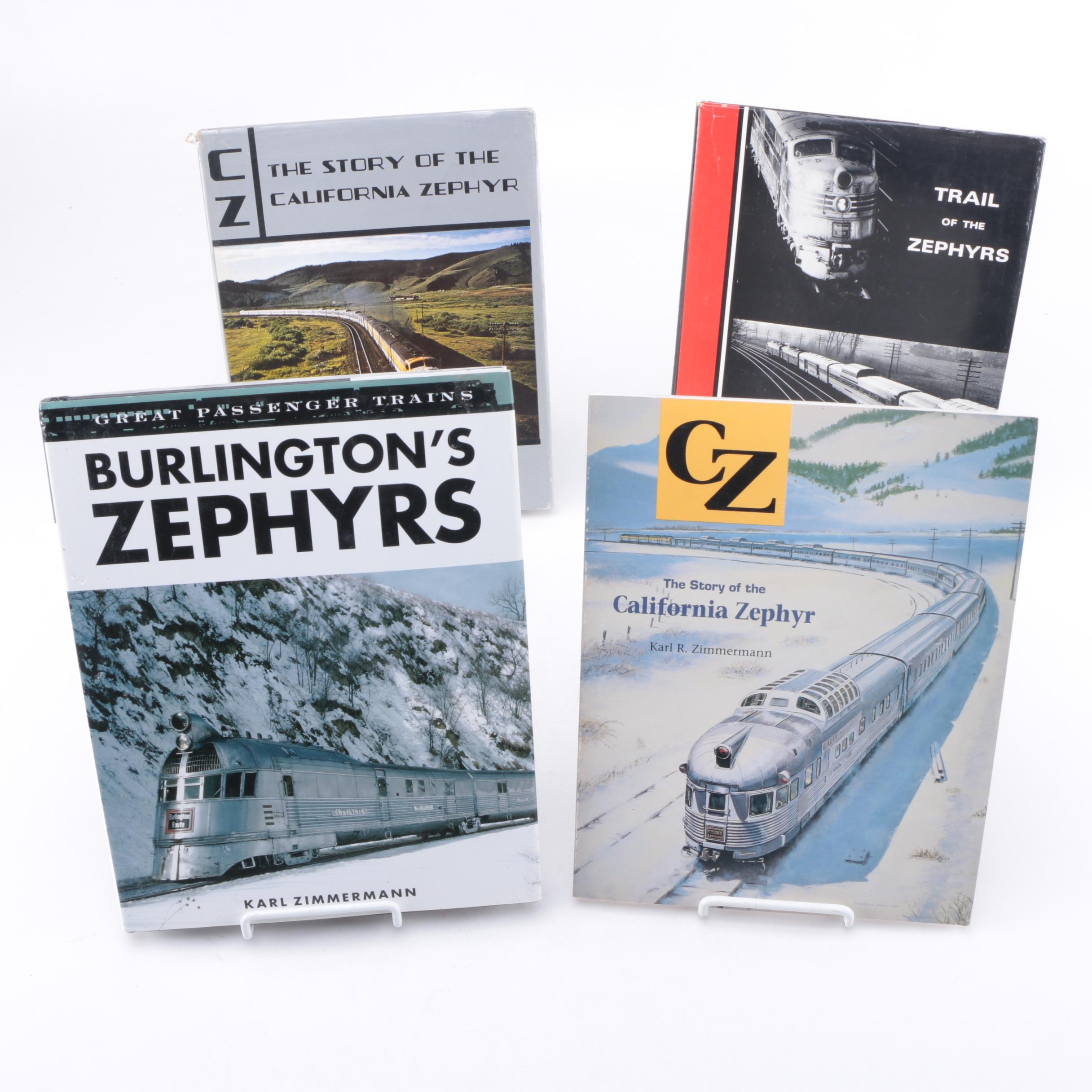 "Collection of Zephyr Books including ""Trail of the Zephyrs"" by Robert Olmstead"