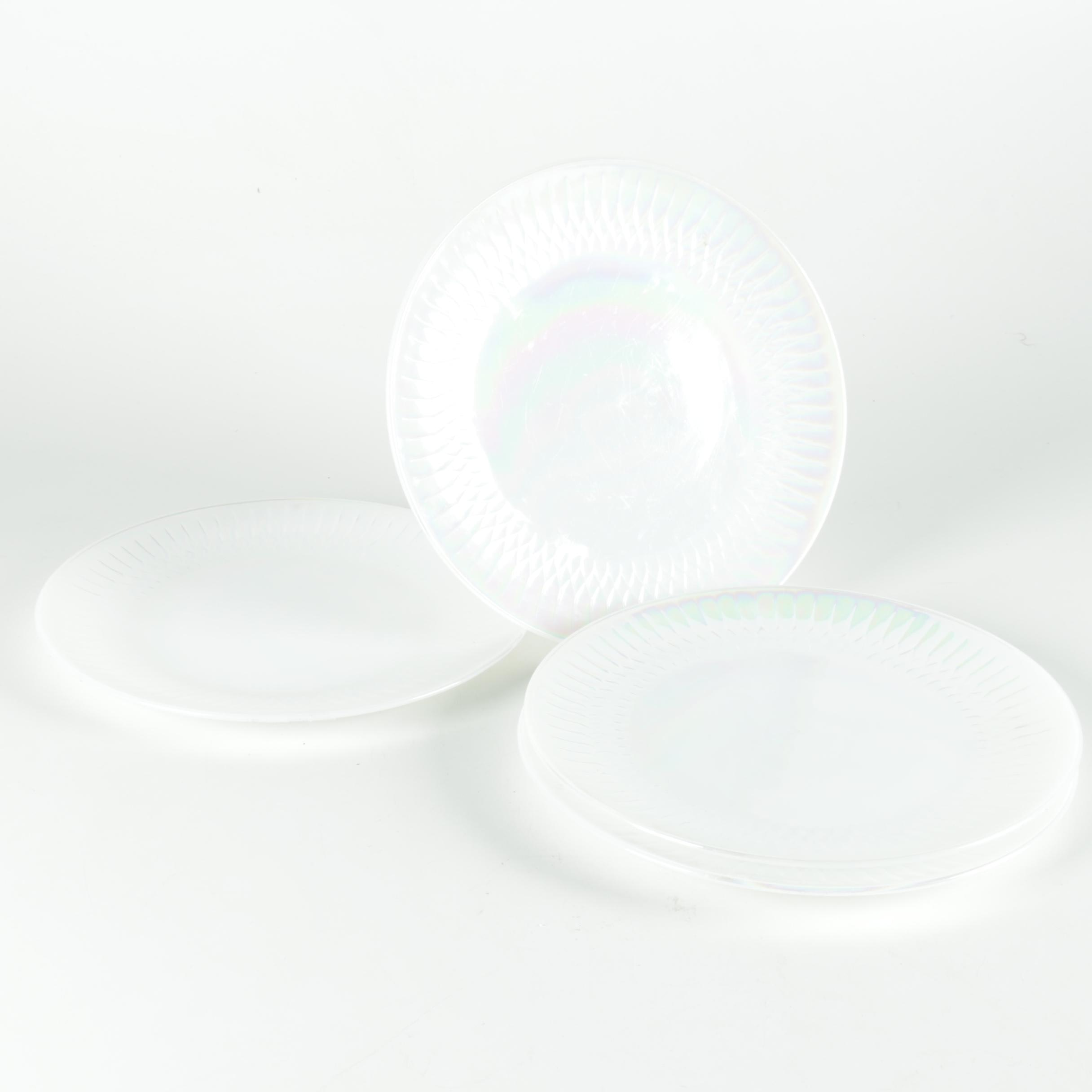 Fire King Aurora Opalescent Pressed Glass Plates