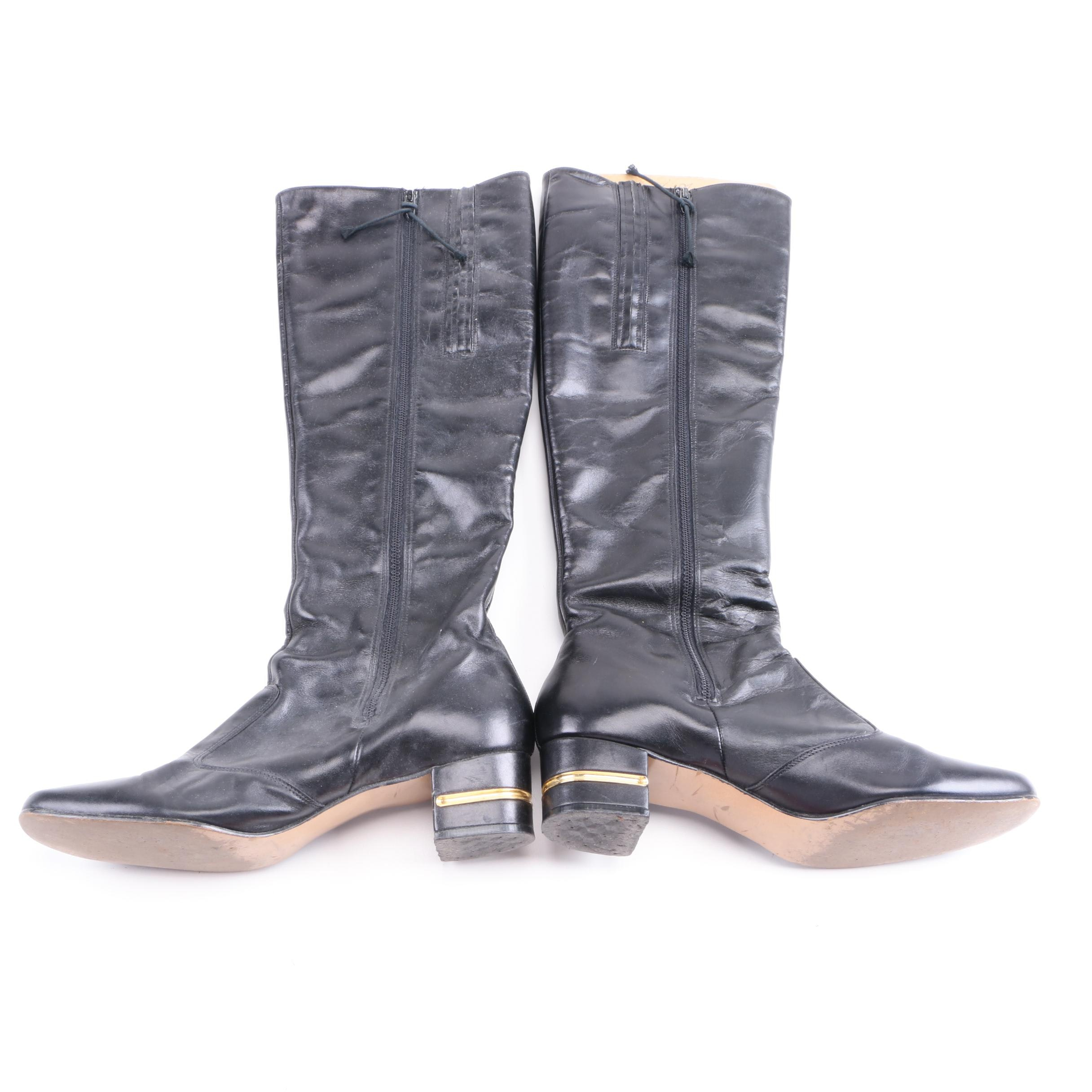 Women's Selby Black Leather Boots