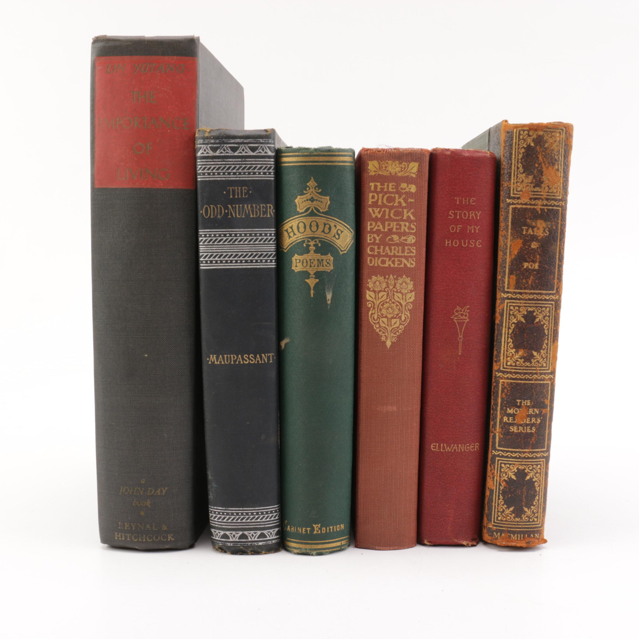 Assorted Antique and Vintage Hardcover Books
