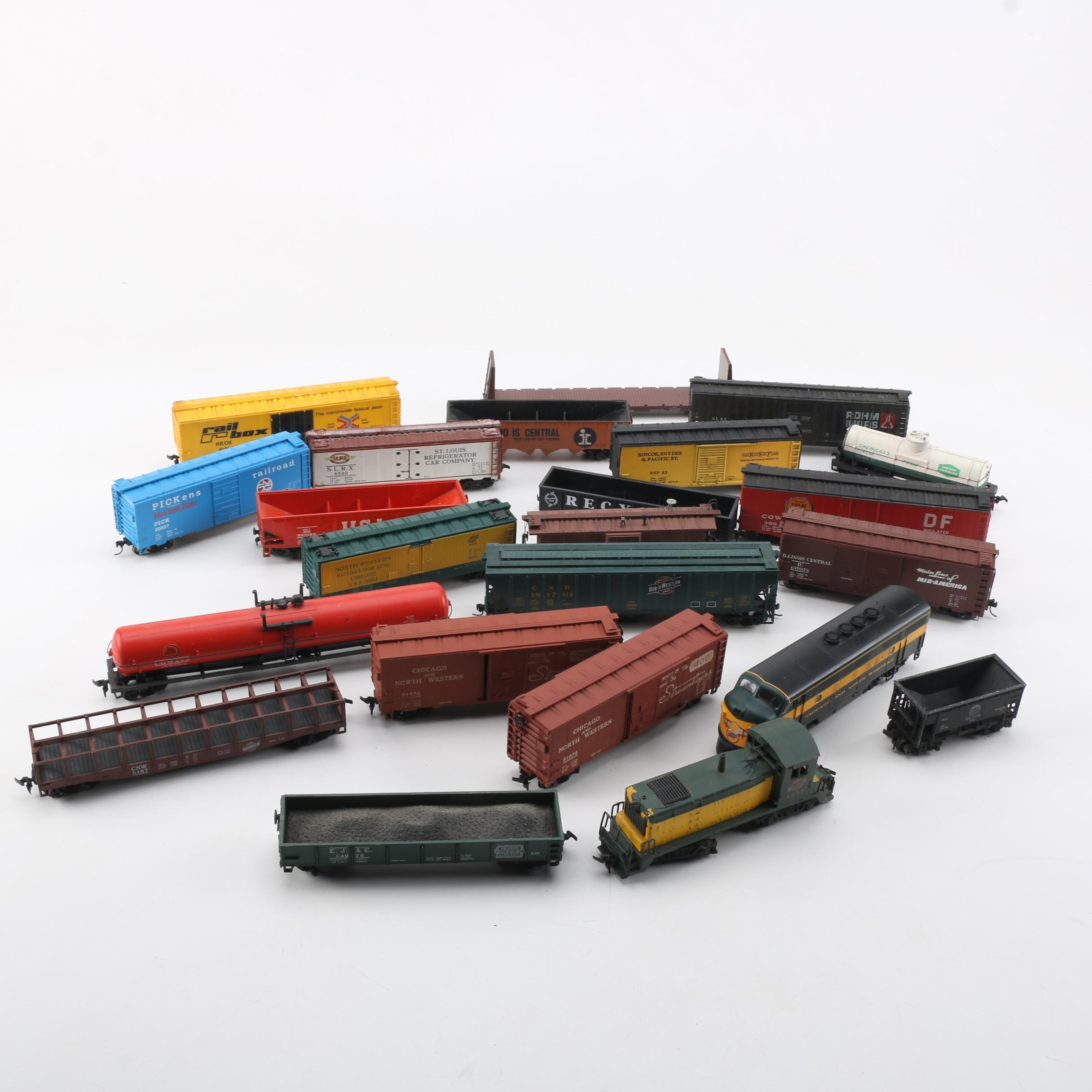 Collection of HO Scale Trains