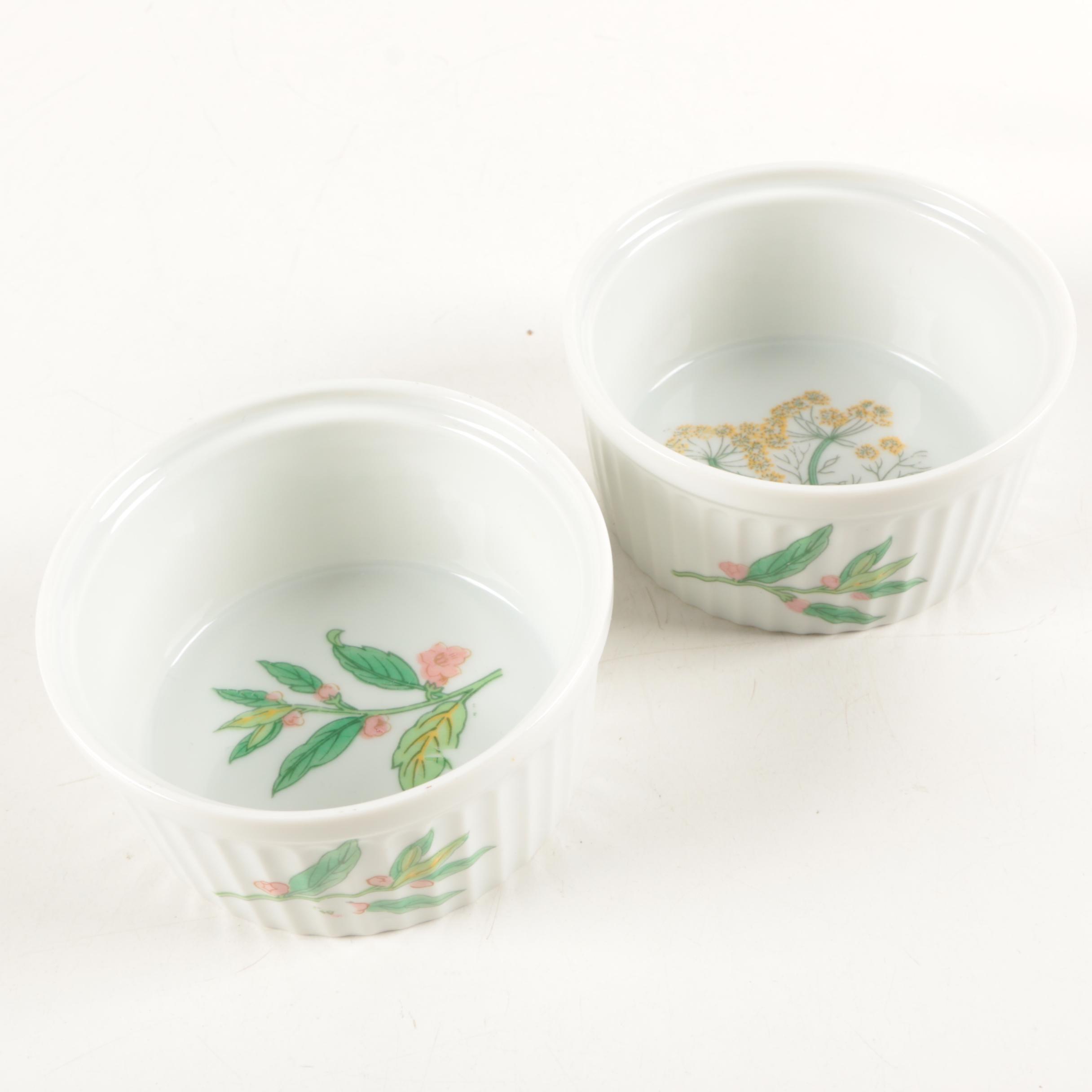 "Shafford ""Herbs & Spices"" Porcelain Ramekins"