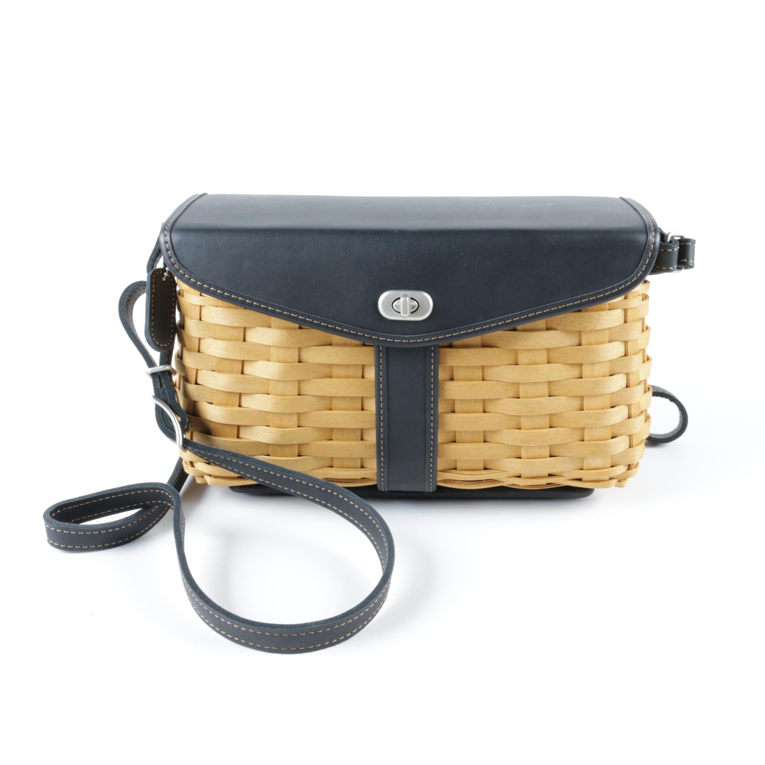 Longaberger Basket and Leather Crossbody