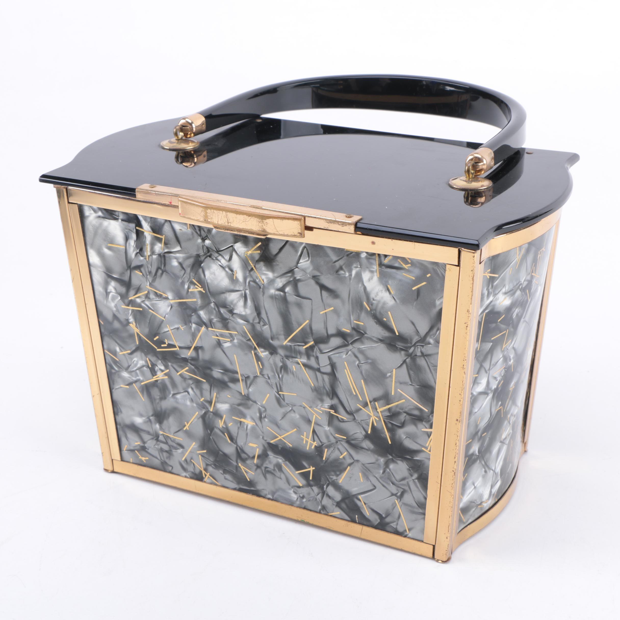 Vintage Majestic Lucite Box Purse