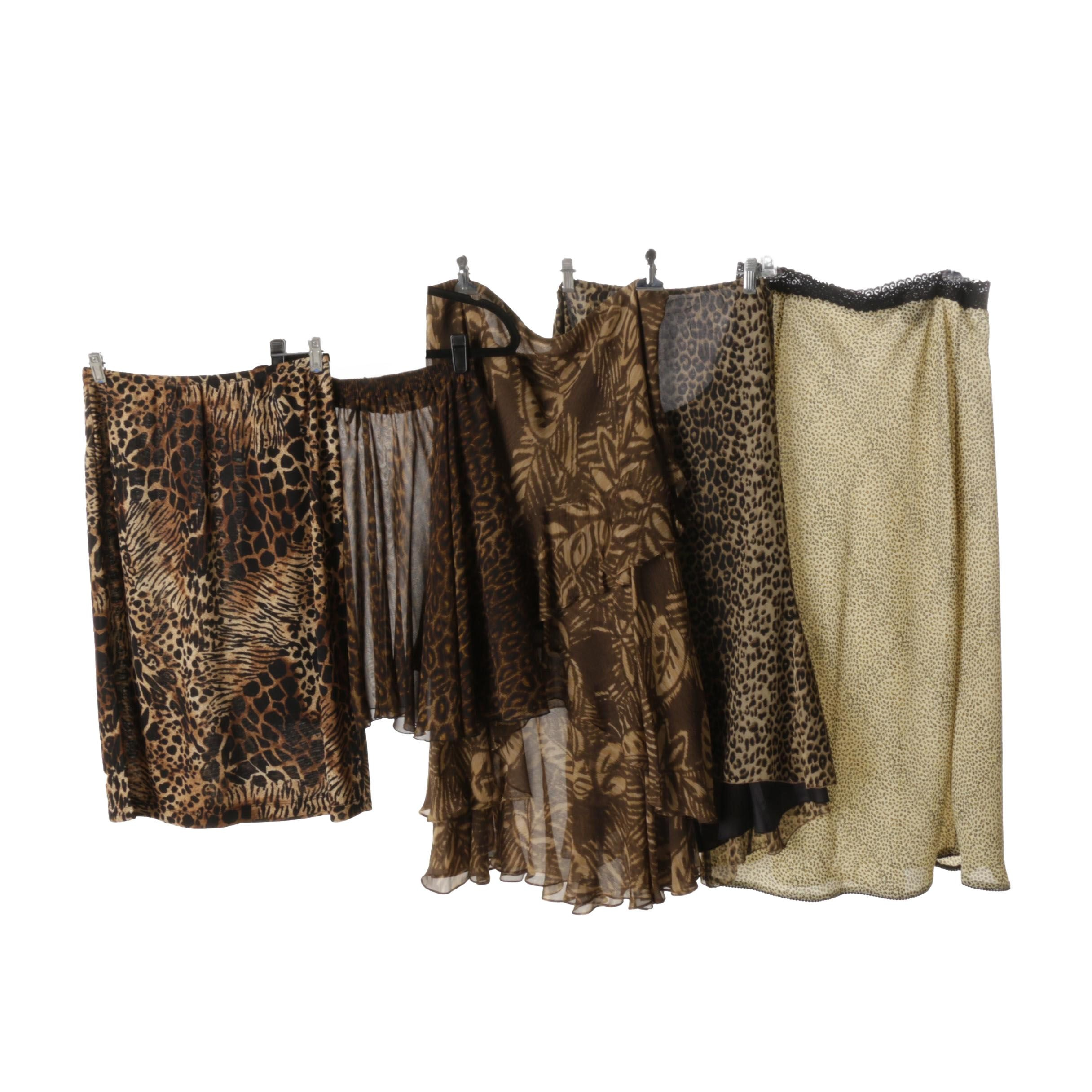 Collection of Printed Chiffon Skirts