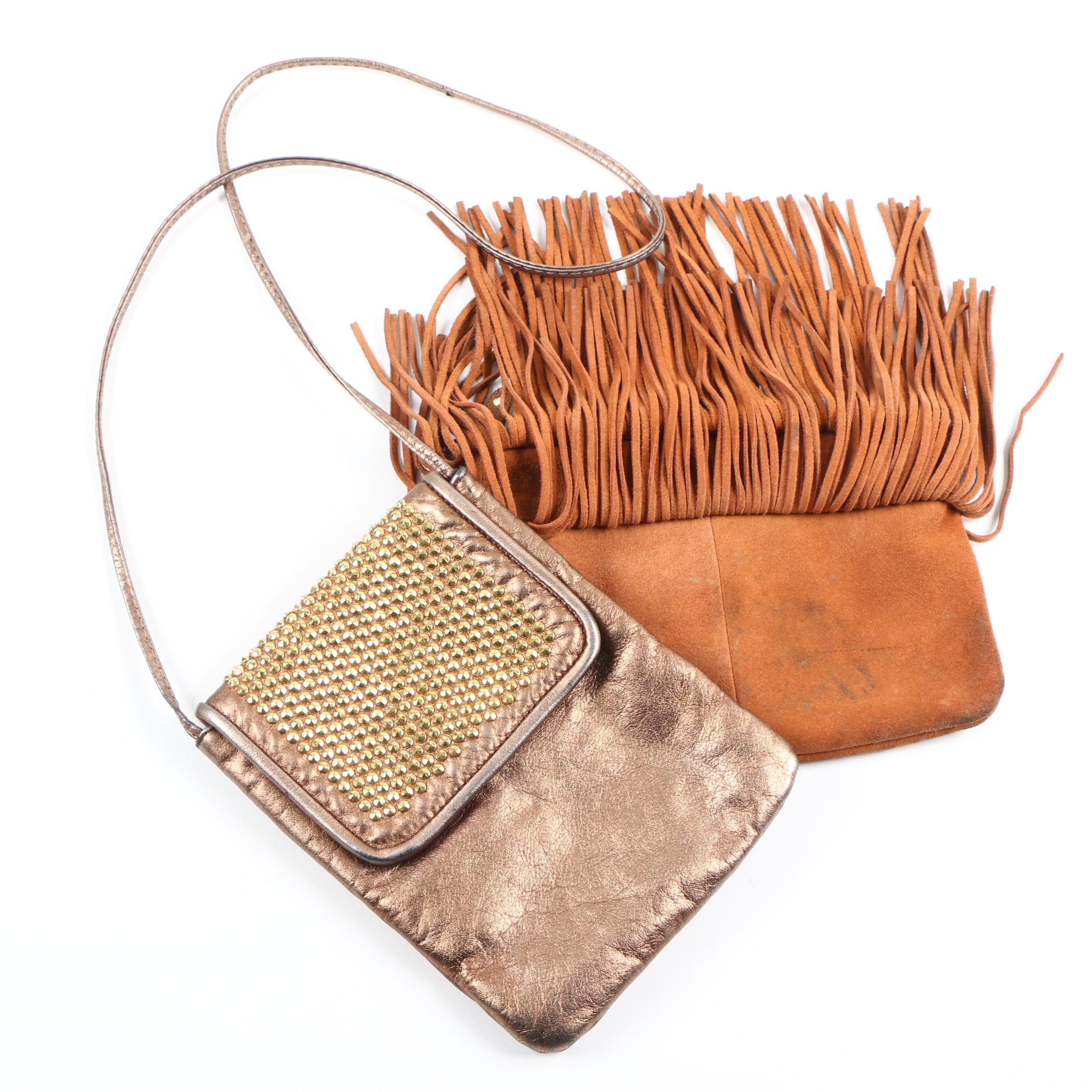 HButler and Dawli Suede and Leather Handbags