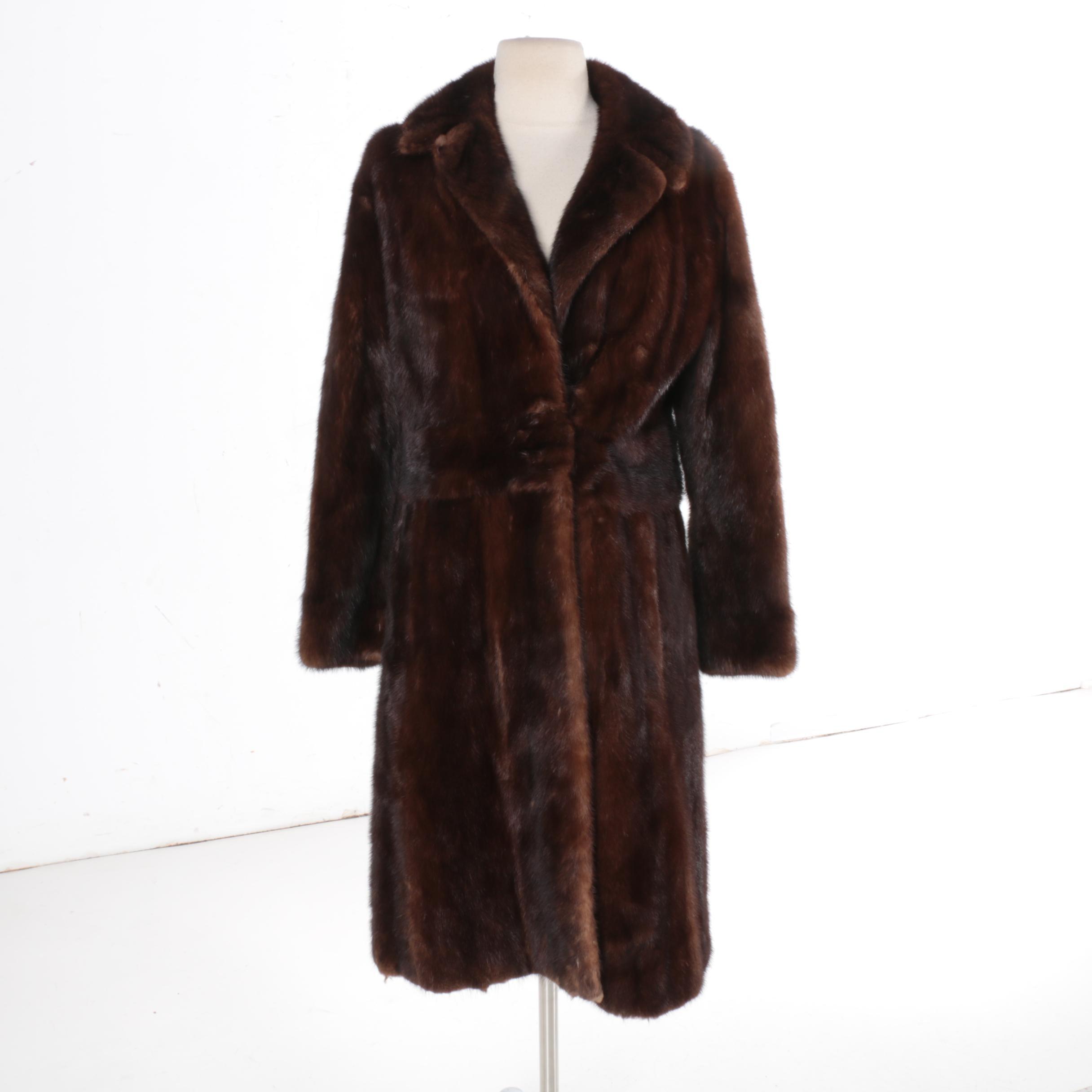 Vintage Chocolate Mink Fur Coat