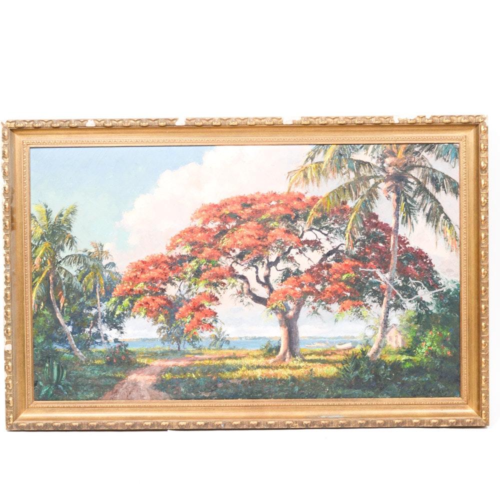 Albert Ernest Backus Oil on Canvas Landscape Painting