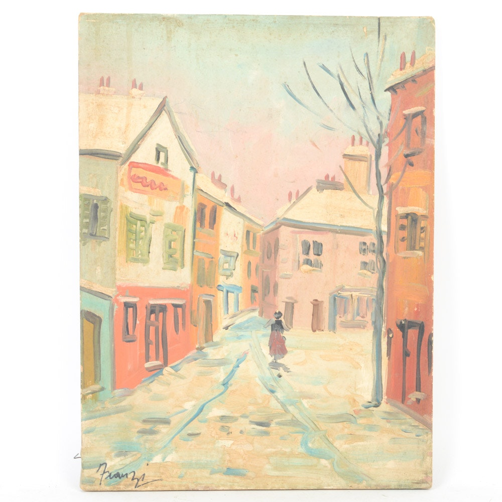 Franzi Oil on Canvas Townscape Painting