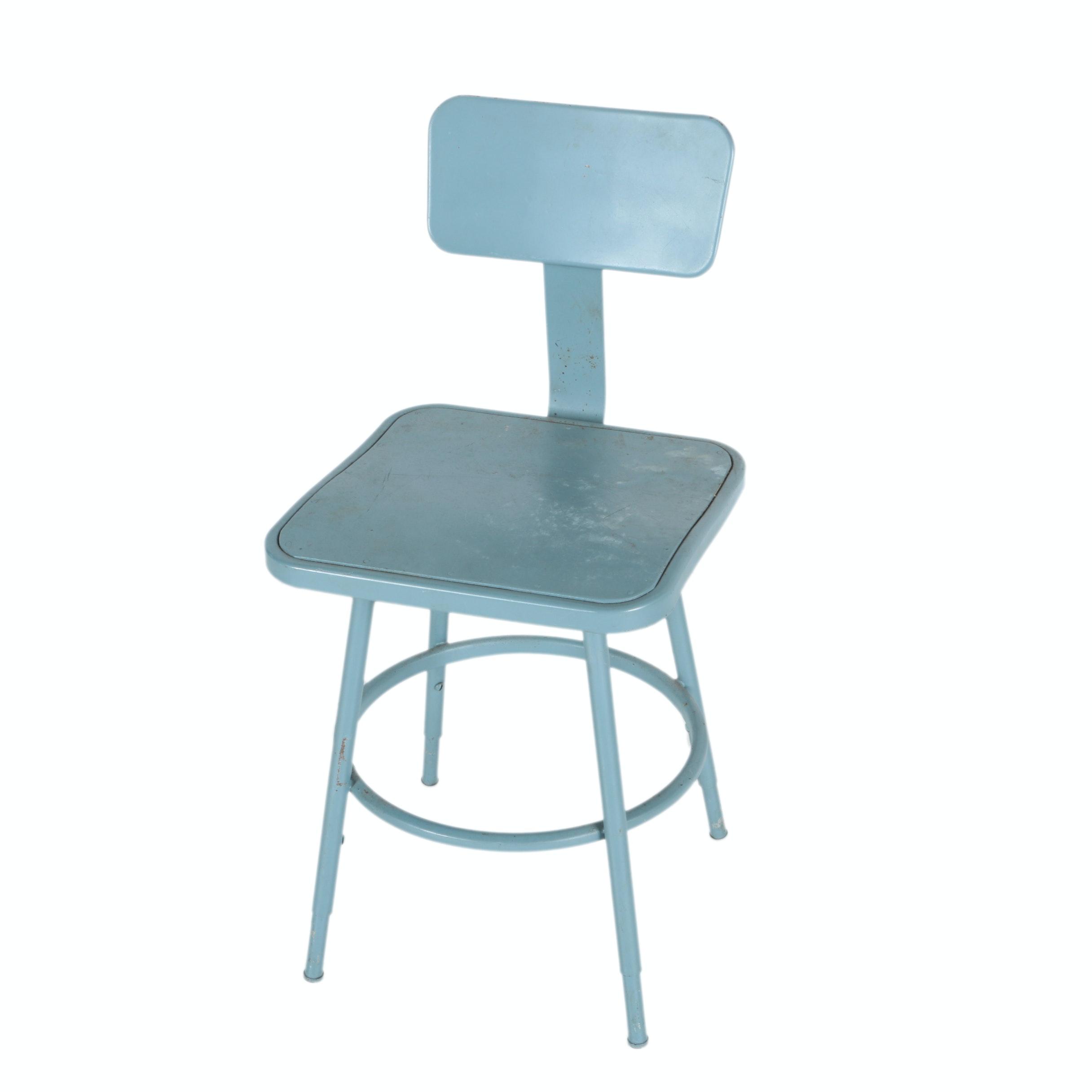 Vintage Mid Century Modern Industrial Metal Chair
