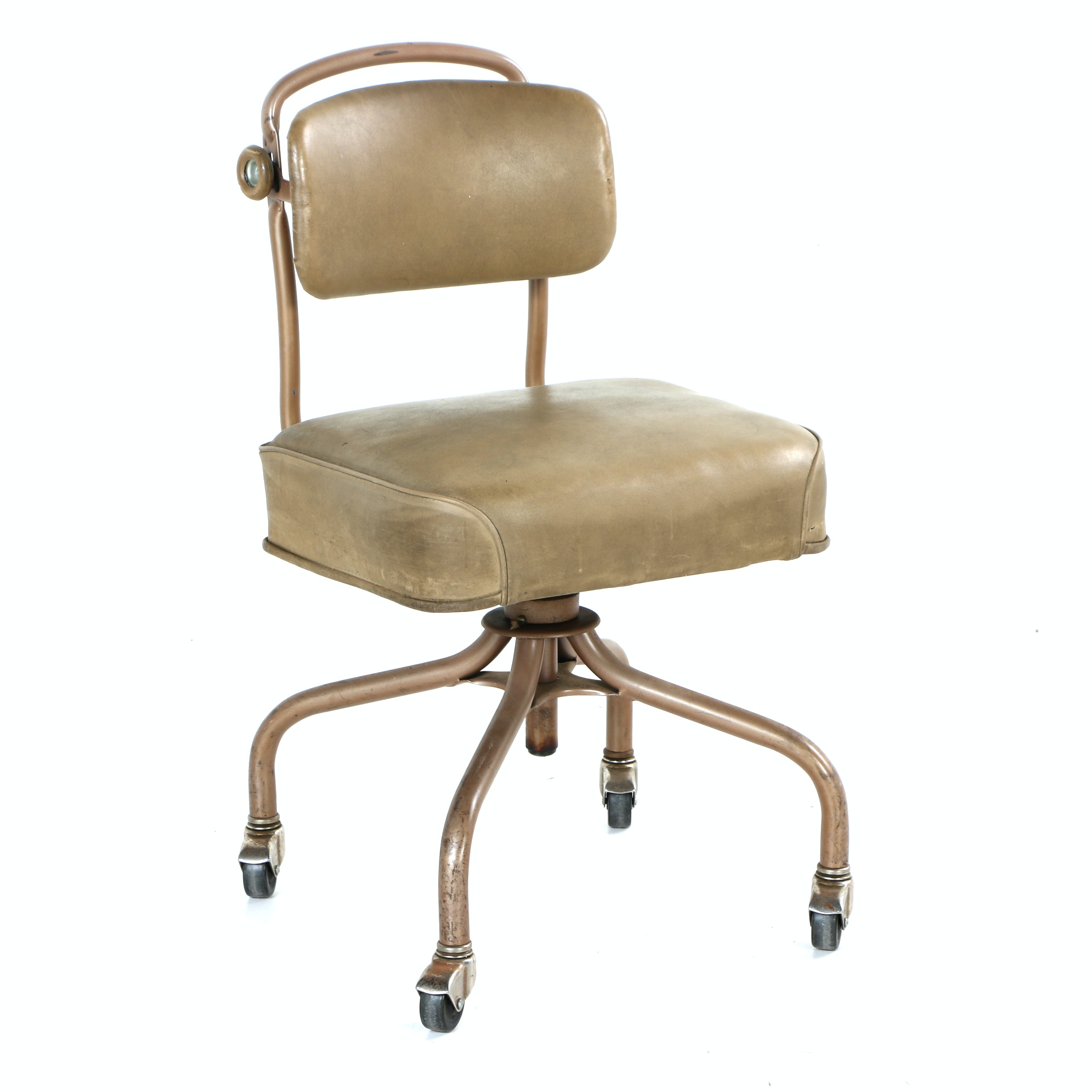 Vintage Mid Century Modern Rolling Office Chair by Steelcase