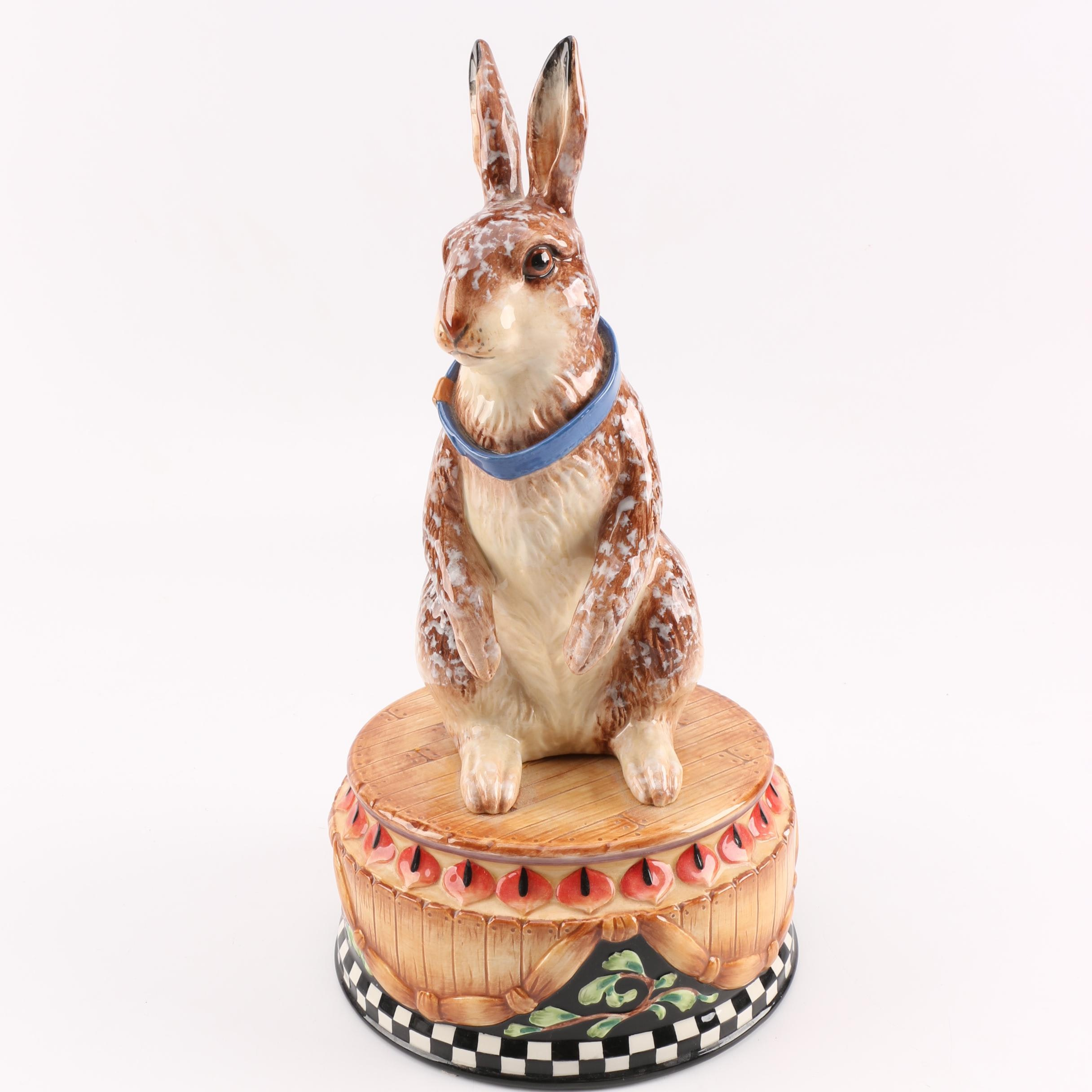 Fitz and Floyd Ceramic Hare