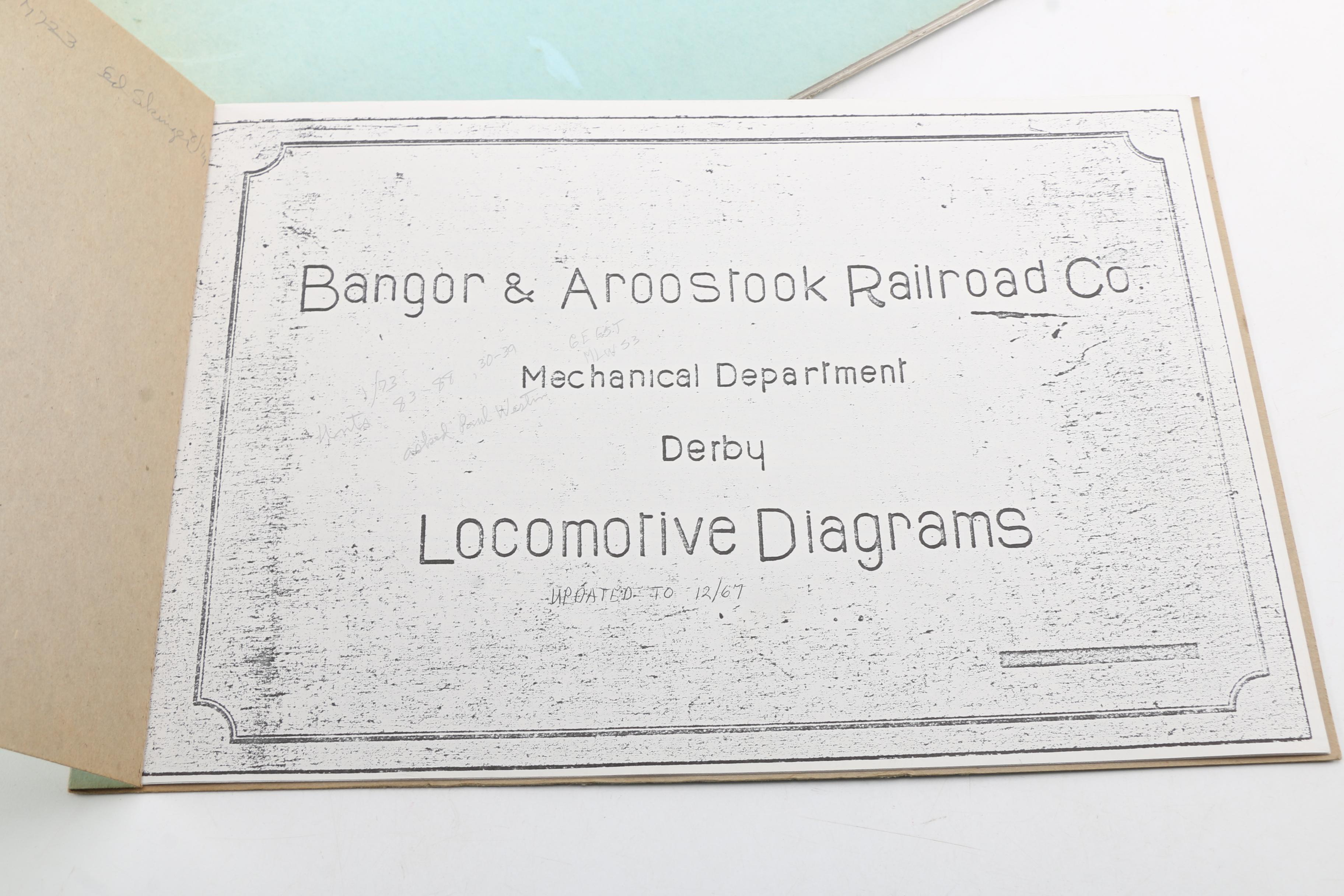Vintage Train Diagrams And Ledgers From New England