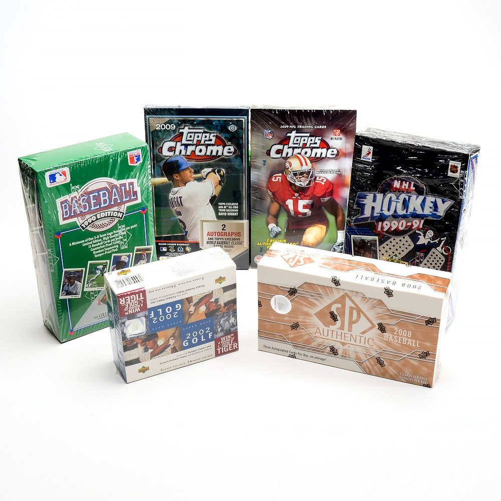 Sealed Boxes 1990-2009 Sports Trading Cards
