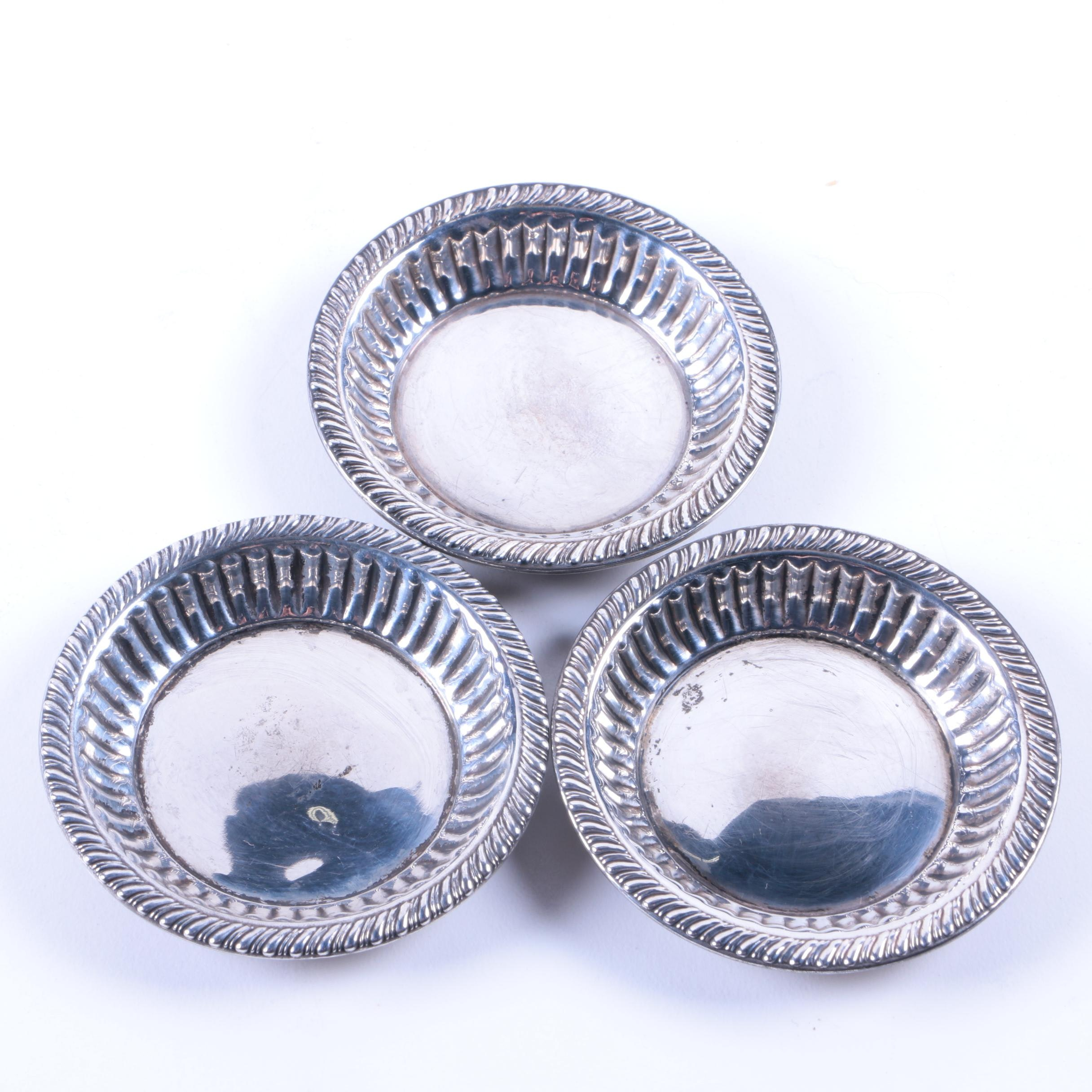 Small Sterling Silver Dish Set with Gadroon Rims