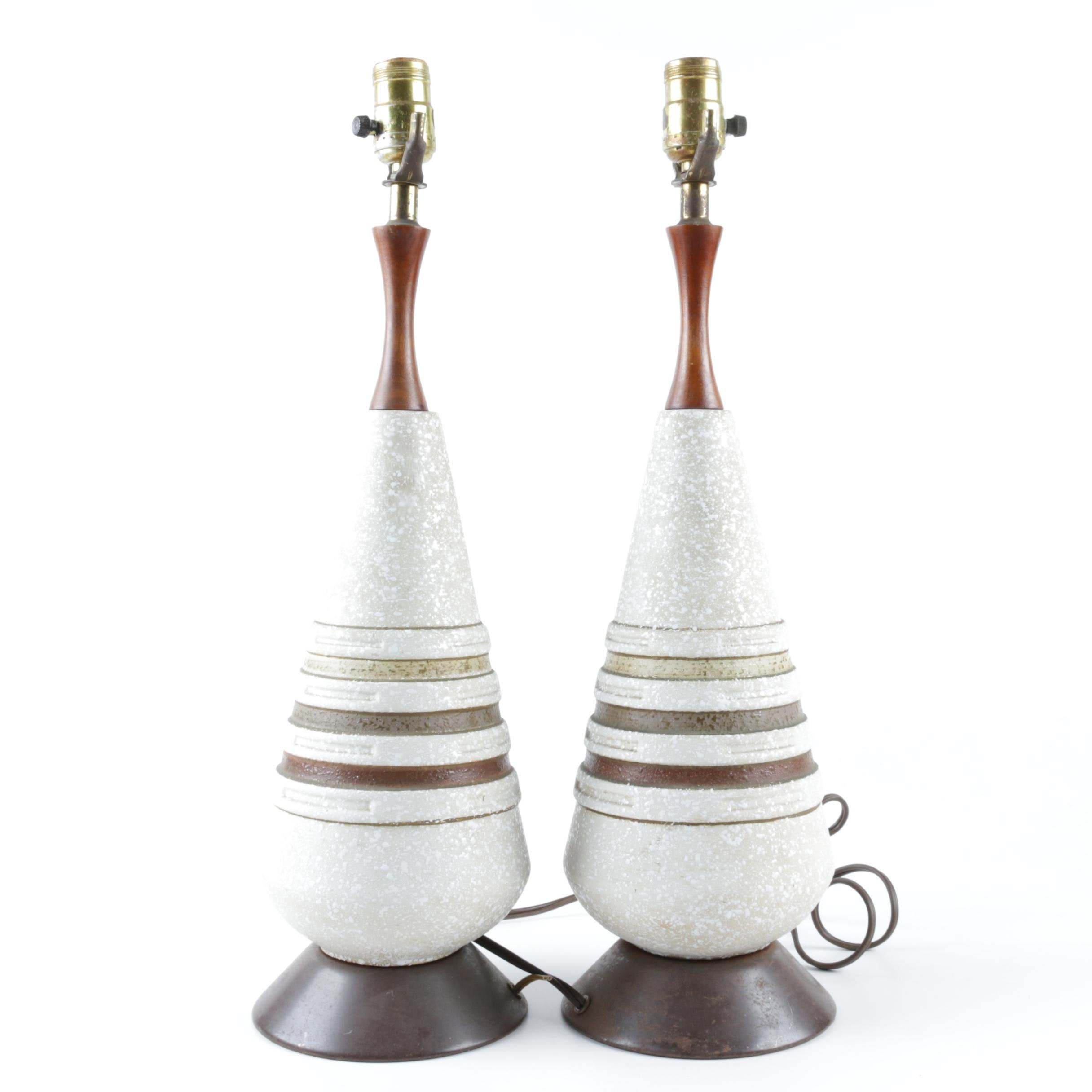 Pair of Mid Century Modern Lamps