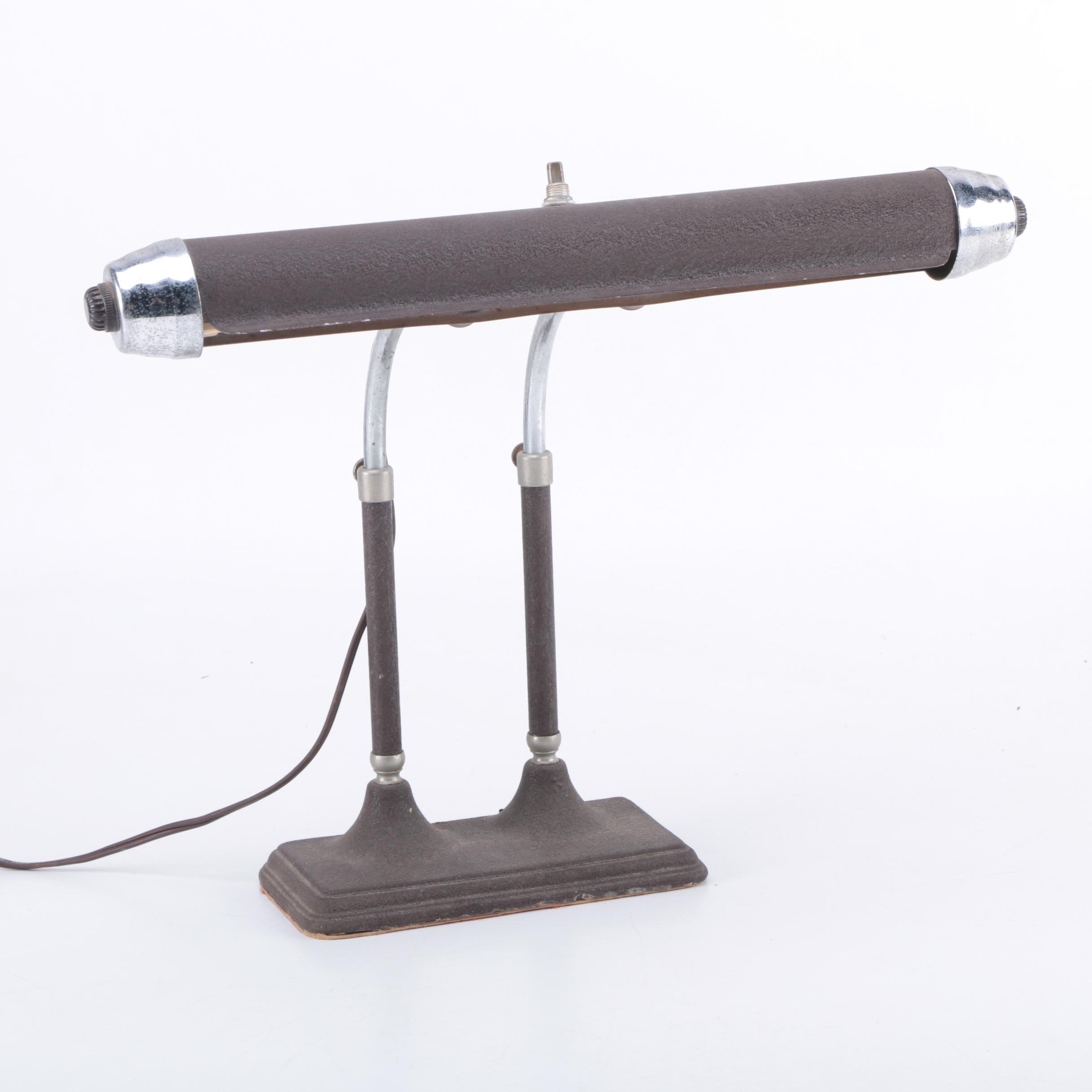 Vintage Radionic Trans Co. Banker's or Piano Lamp
