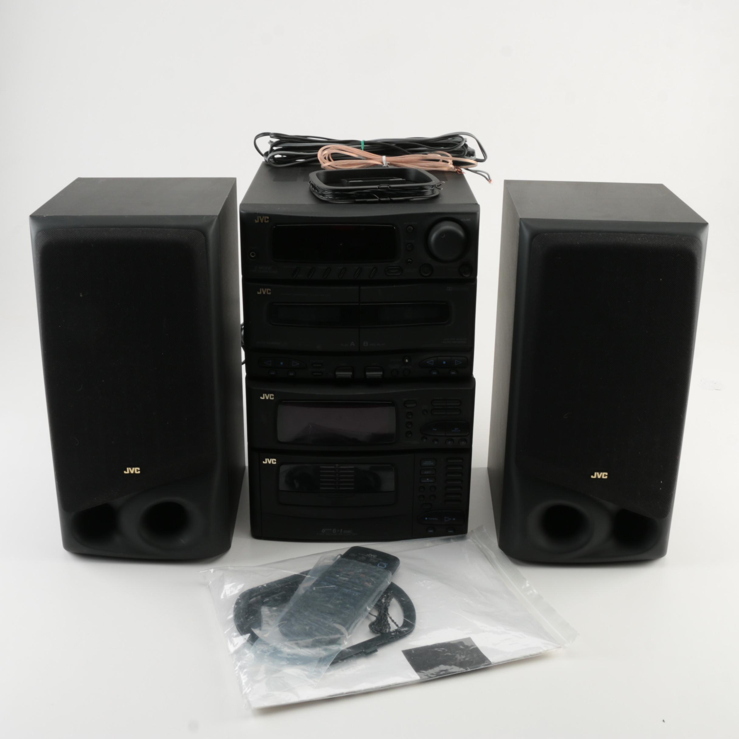 JVC CD Stereo and Speakers