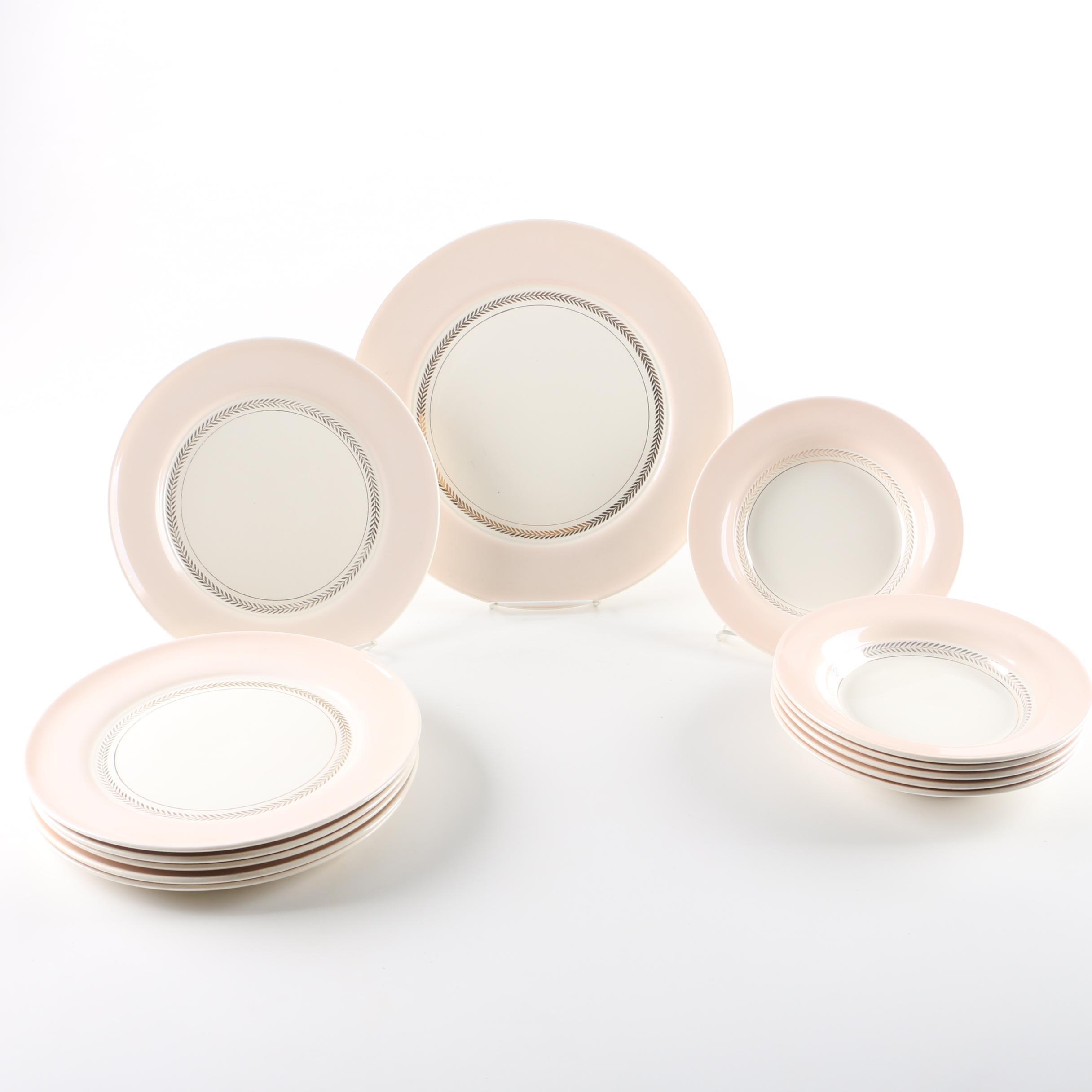 """American Limoges """"Federal Coral Pink"""" Tableware"""