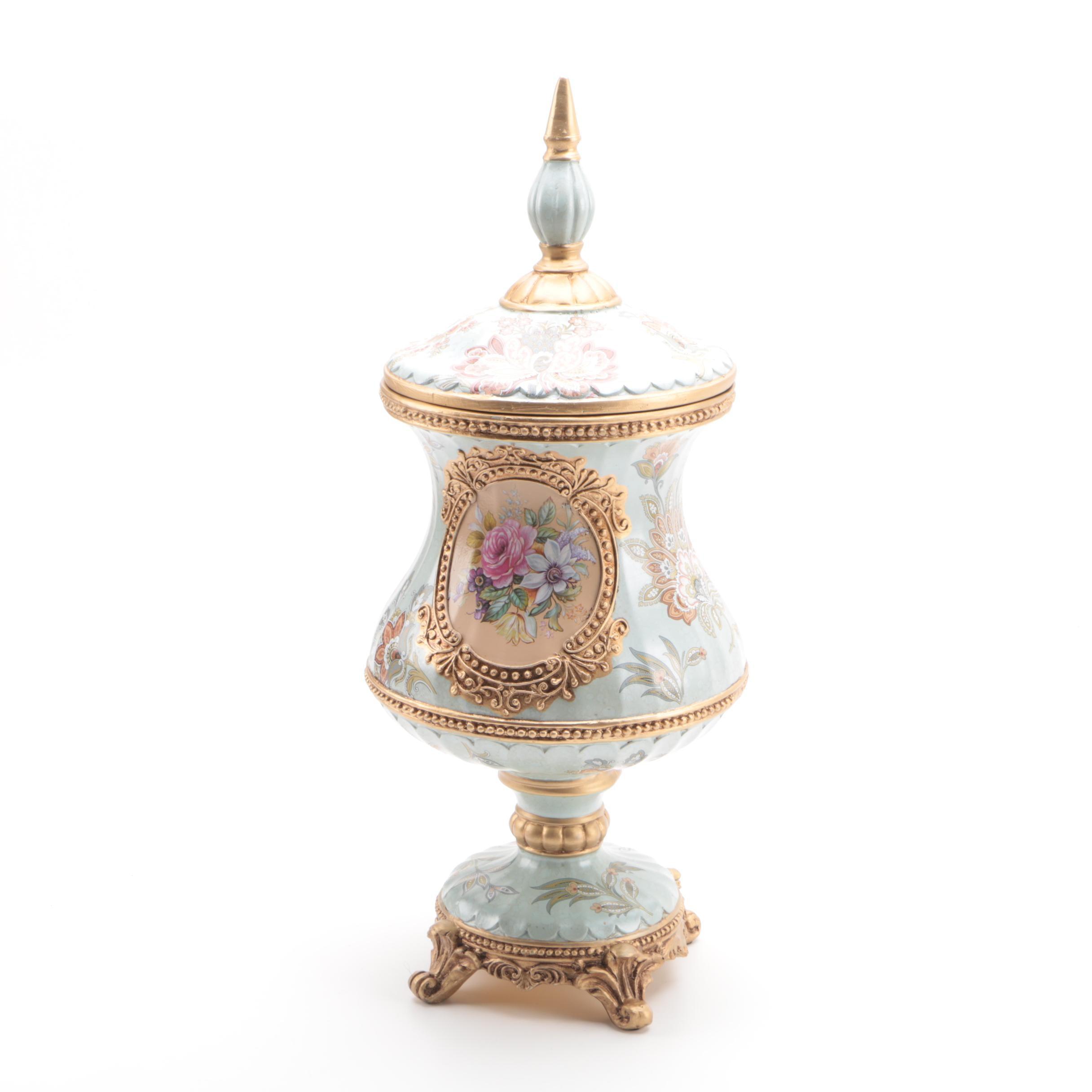 Porcelain Pedestal Urn