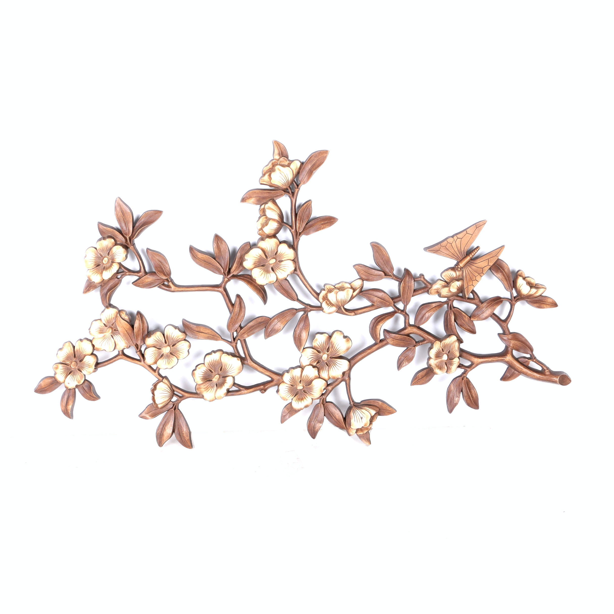 Syroco Dogwood Branch Wall Plaque
