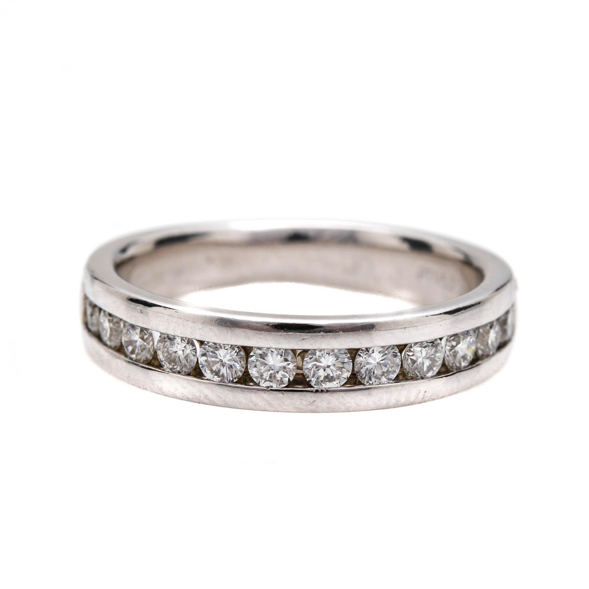 Platinum Diamond Ring Band