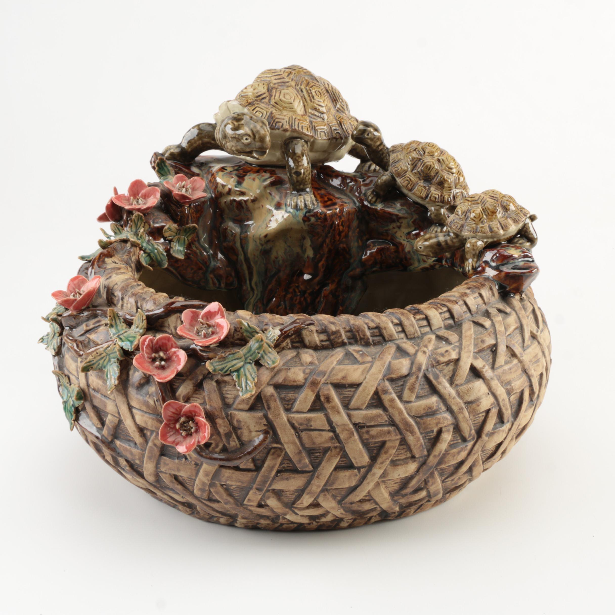 Ceramic Turtle Fountain