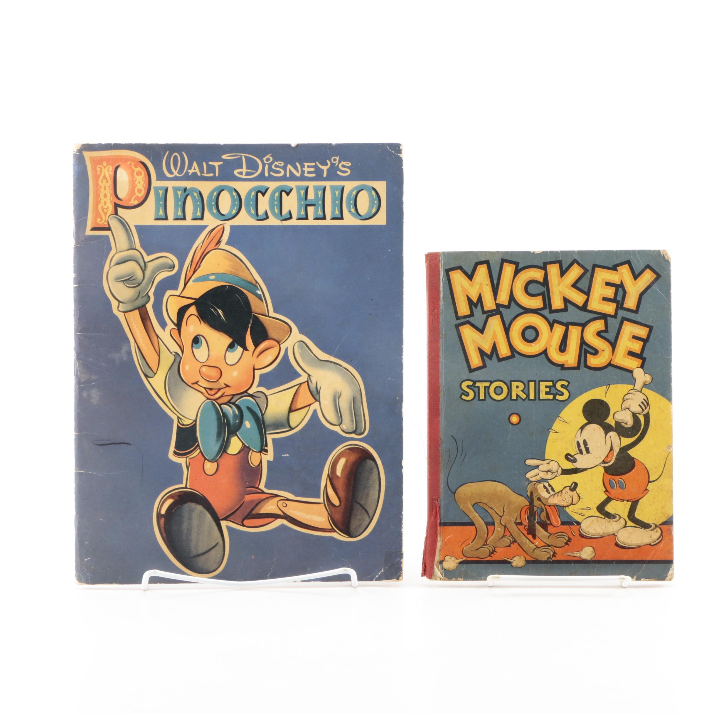 1930s Disney Coloring and Story Books