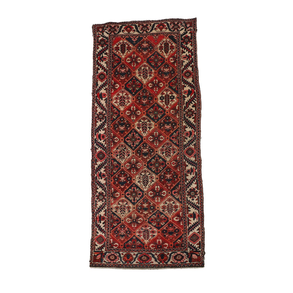 Vintage Hand-Knotted Caucasian Wool Area Rug