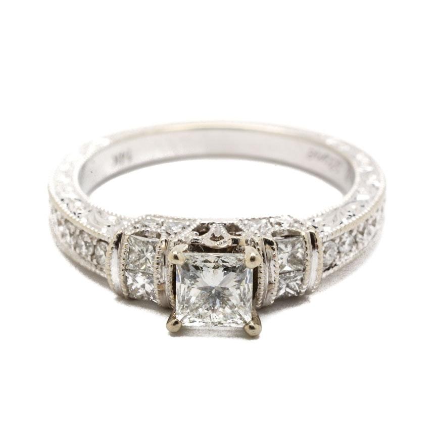 Neil Lane 14K White Gold 1.12 CTW Diamond Engagement Ring