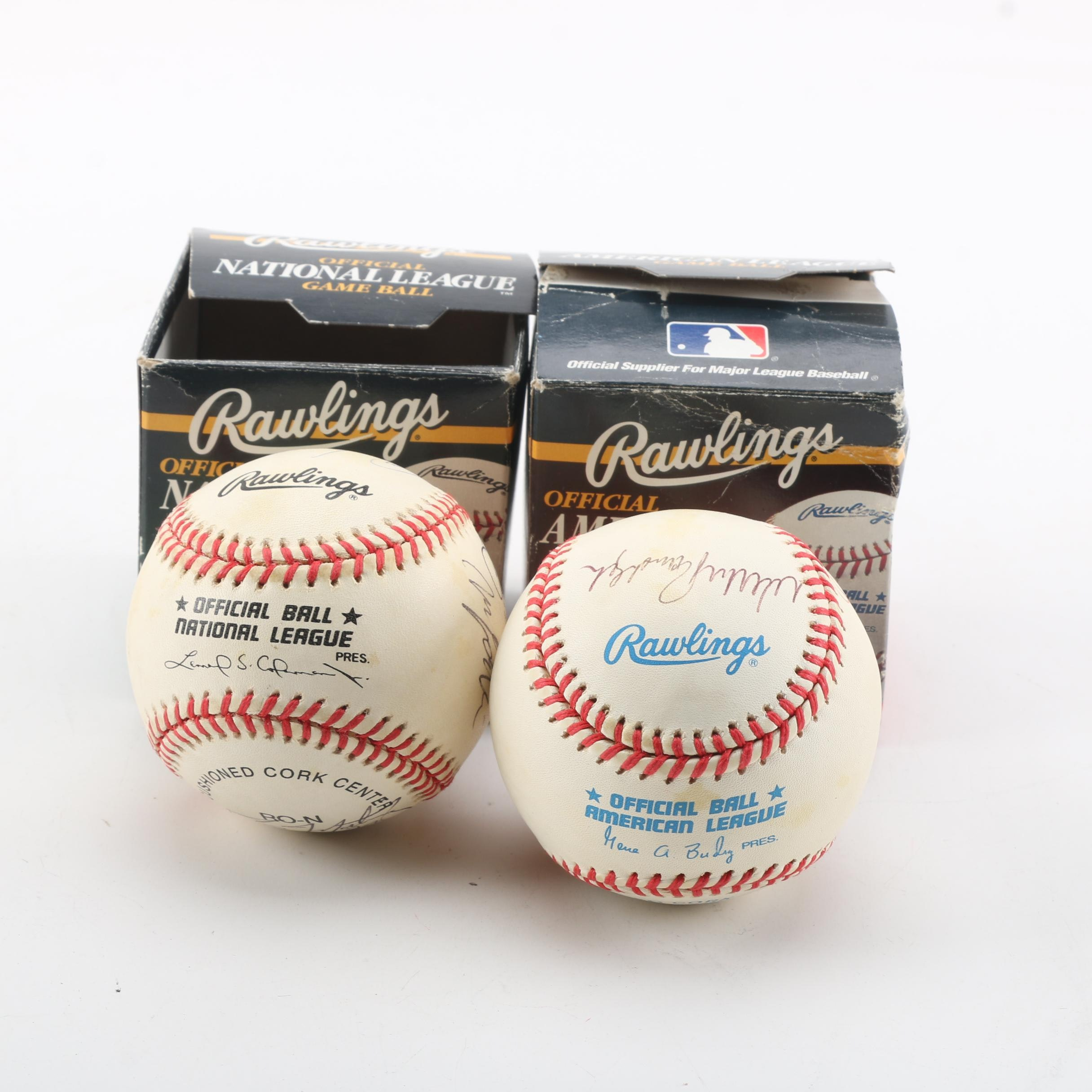 Autographed Baseballs Featuring Phil Rizzuto