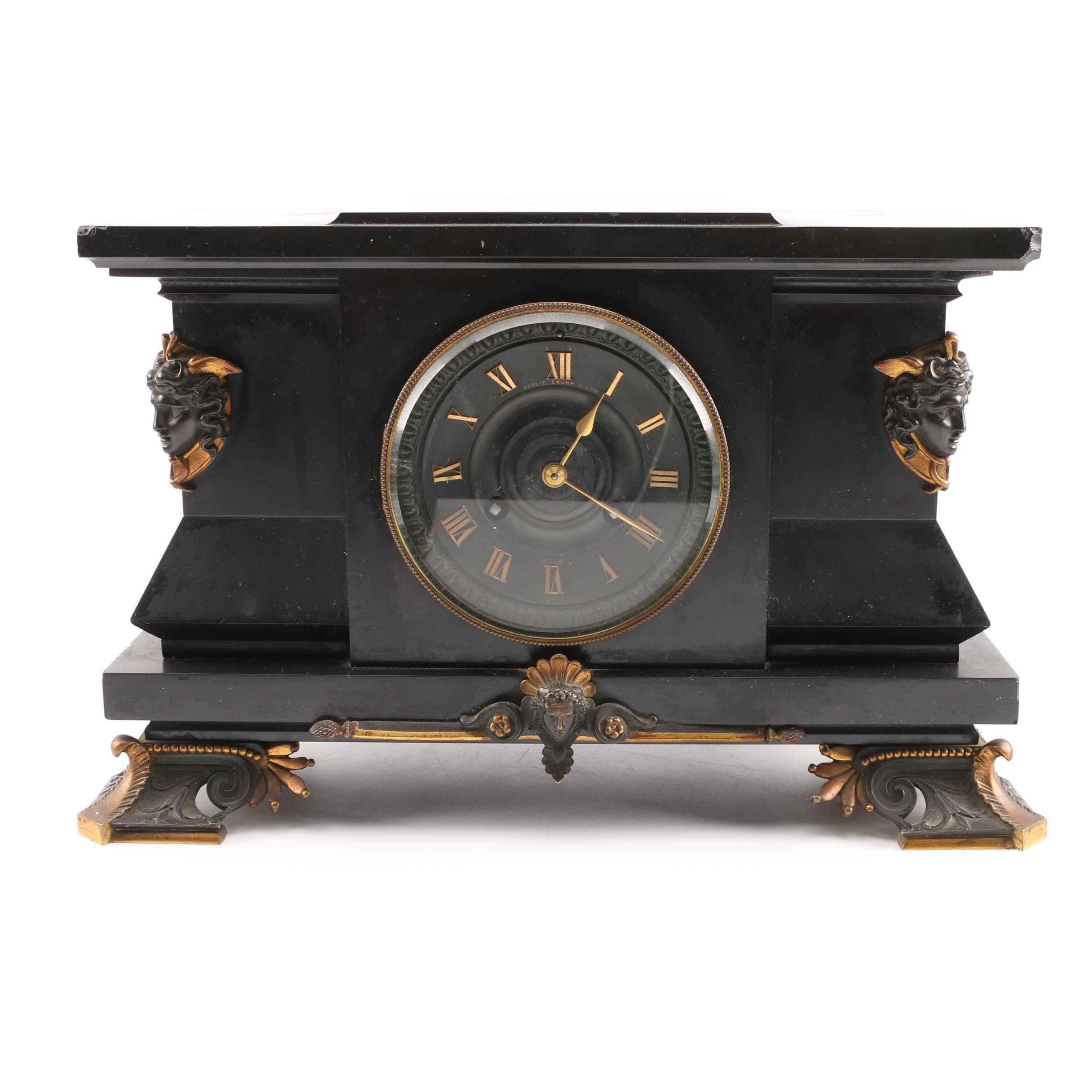 Shreve Crump & Low Slate Mantel Clock