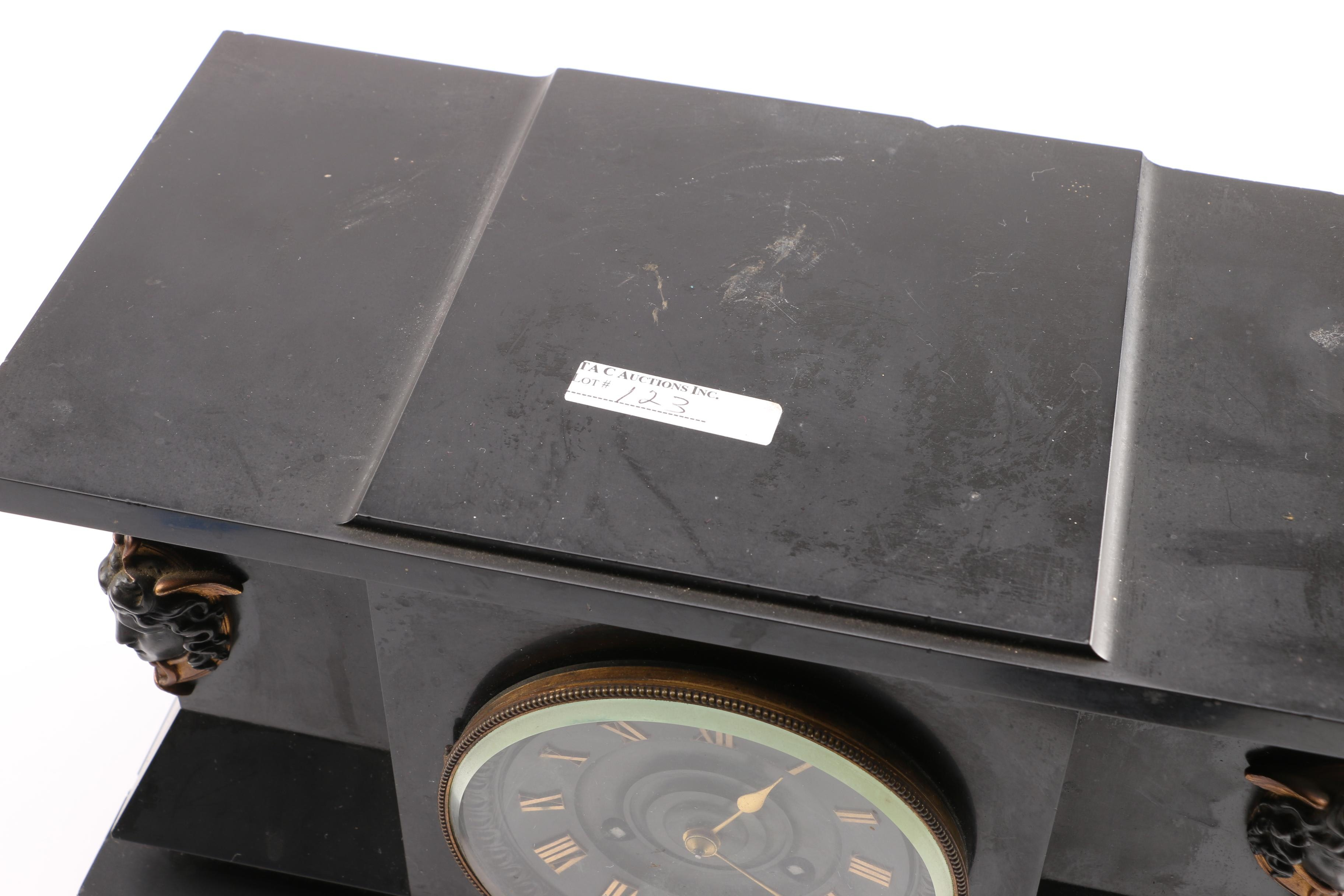Shreve Crump Amp Low Slate Mantel Clock Ebth