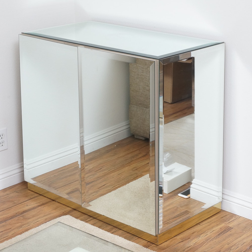 Mirrored Cabinet With Double Doors