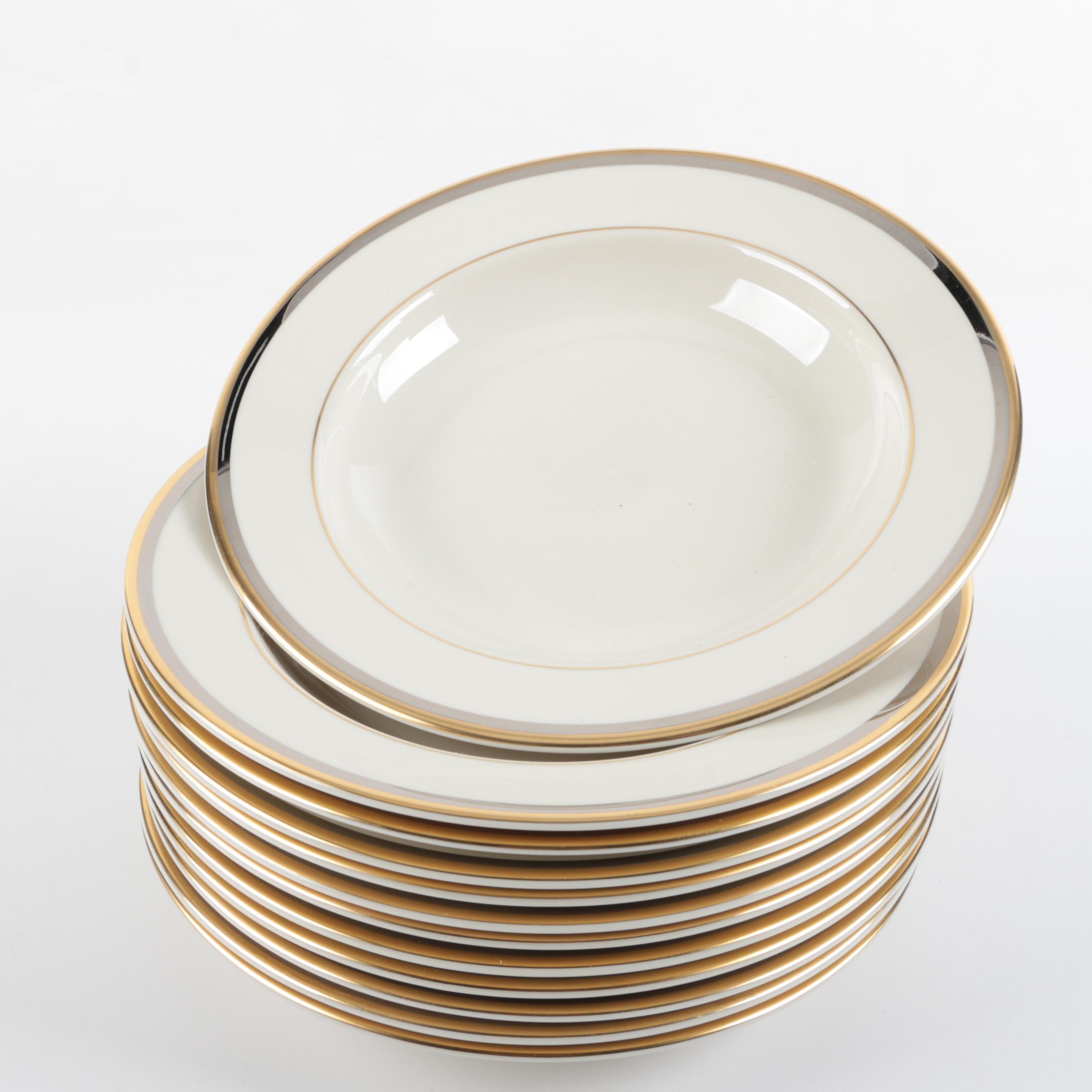 Pickard Porcelain Large Rim Soup Bowls