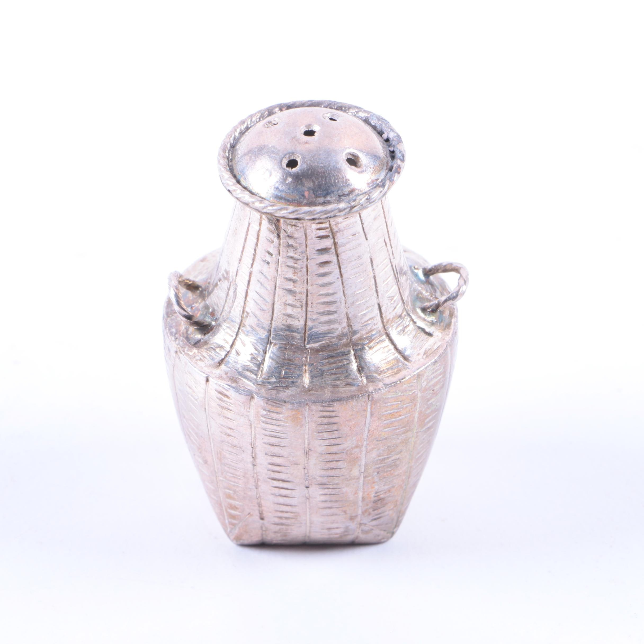 Basket-Shaped Silver-Plated Shaker