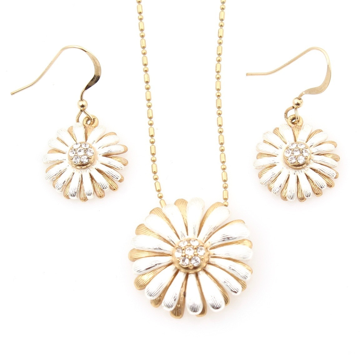 Brighton Daisy Pendant Necklace and Earrings