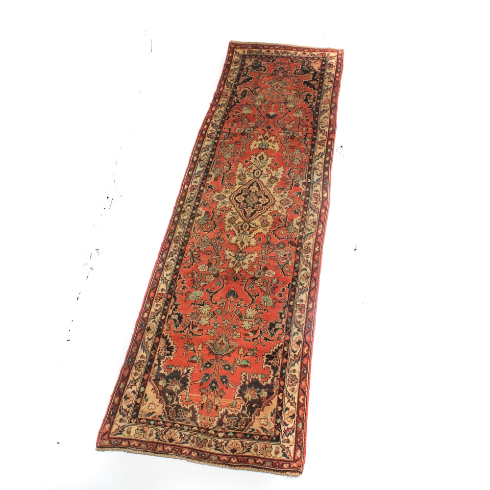 Hand Knotted Persian Malayer Sarouk Runner