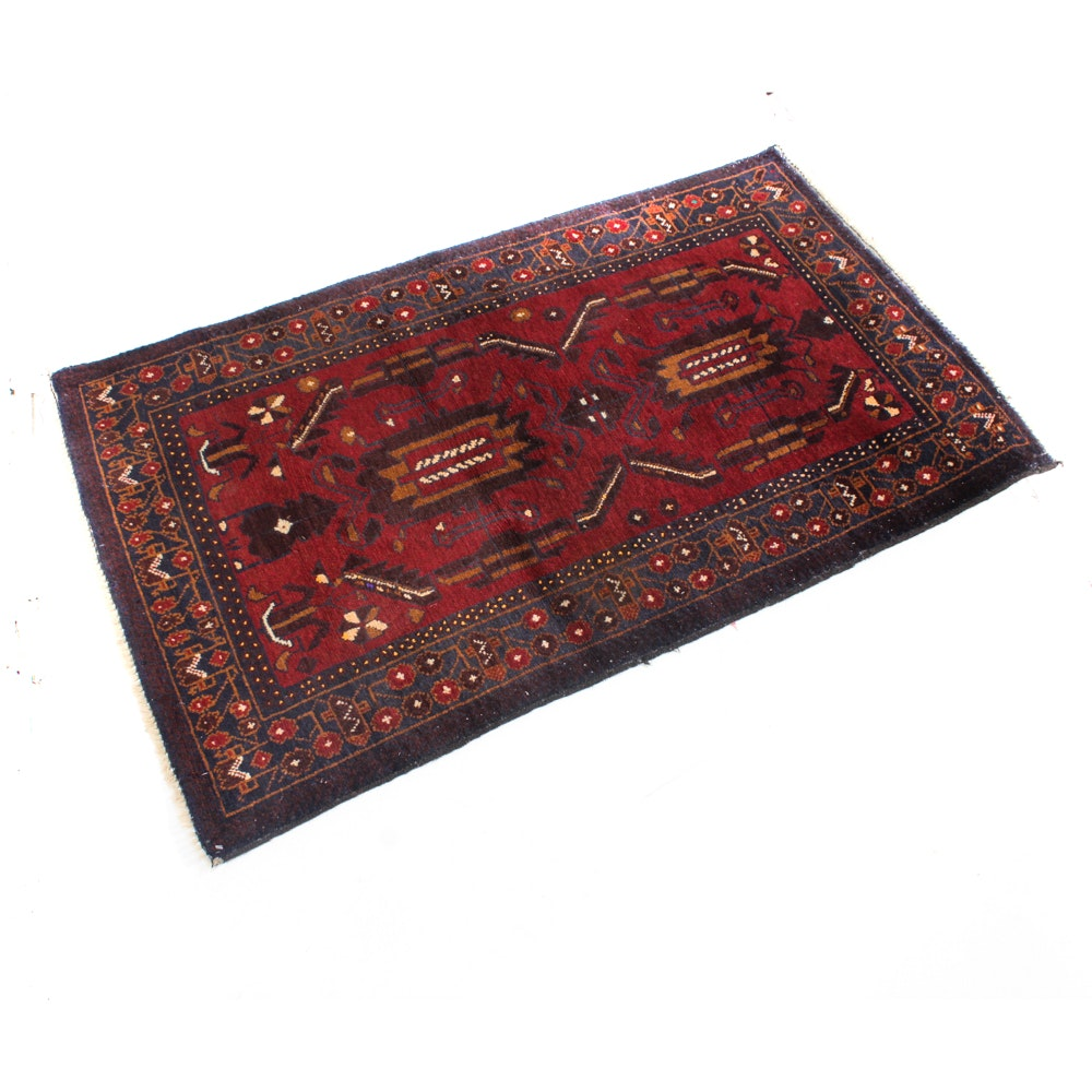 Semi-Antique Hand-Knotted Persian Balouch Rug