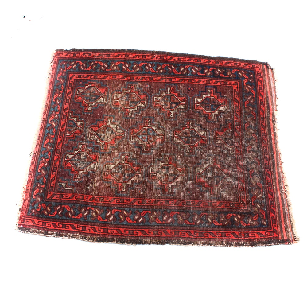 Antique Hand Knotted Persian Balouch Rug