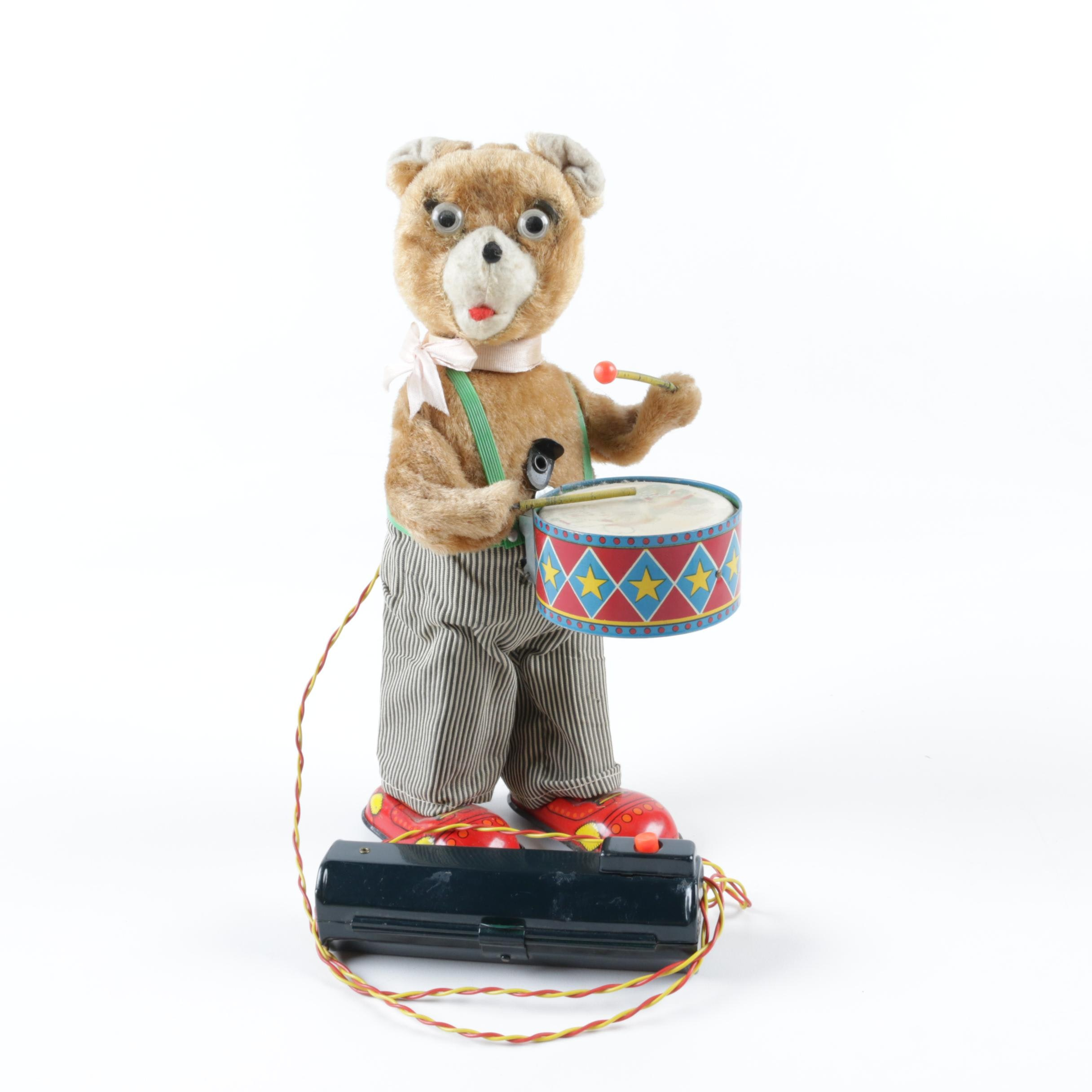 Mid-Century Remote Control Drumming Bear by Alps