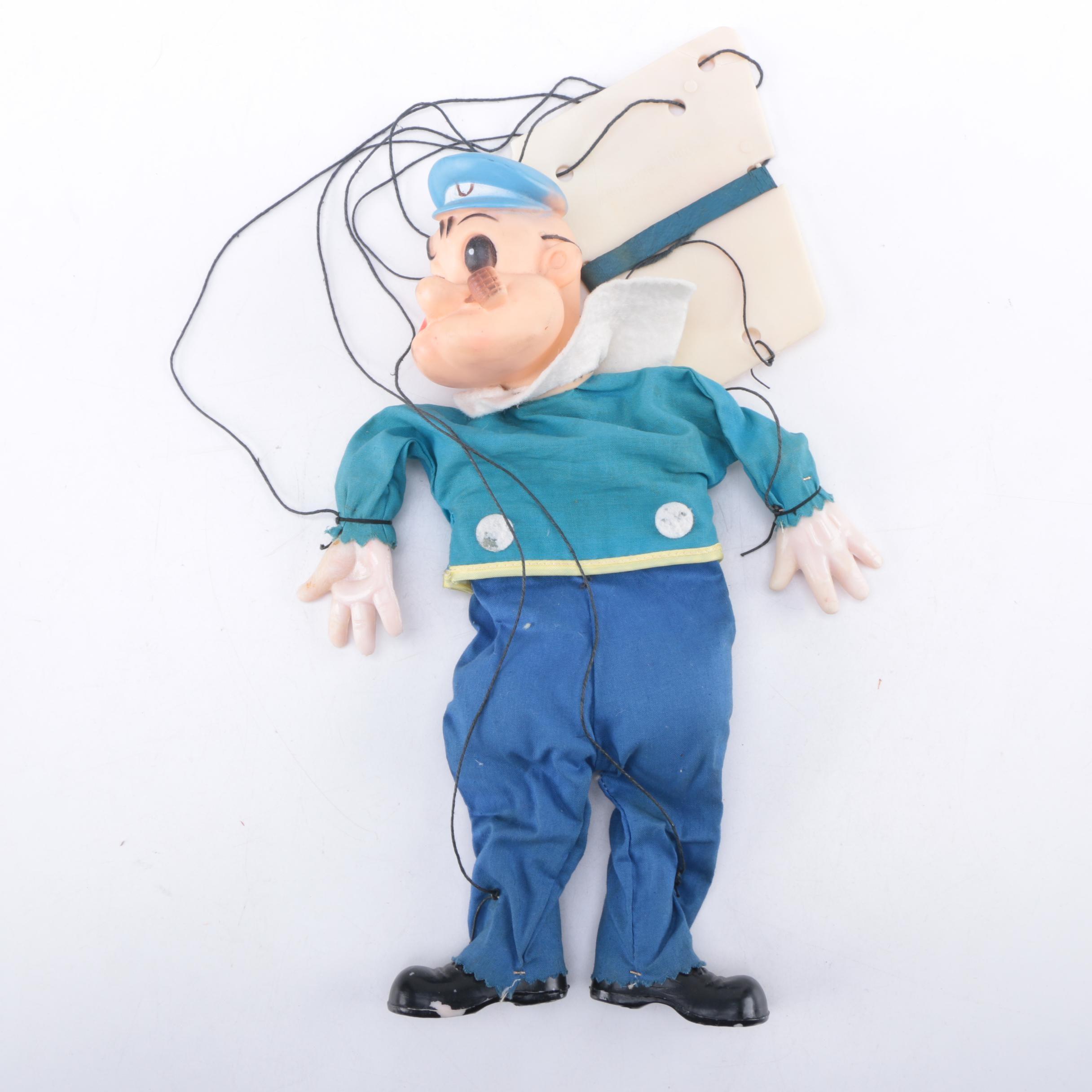 """Vintage Gund """"Popeye"""" Marionette"""