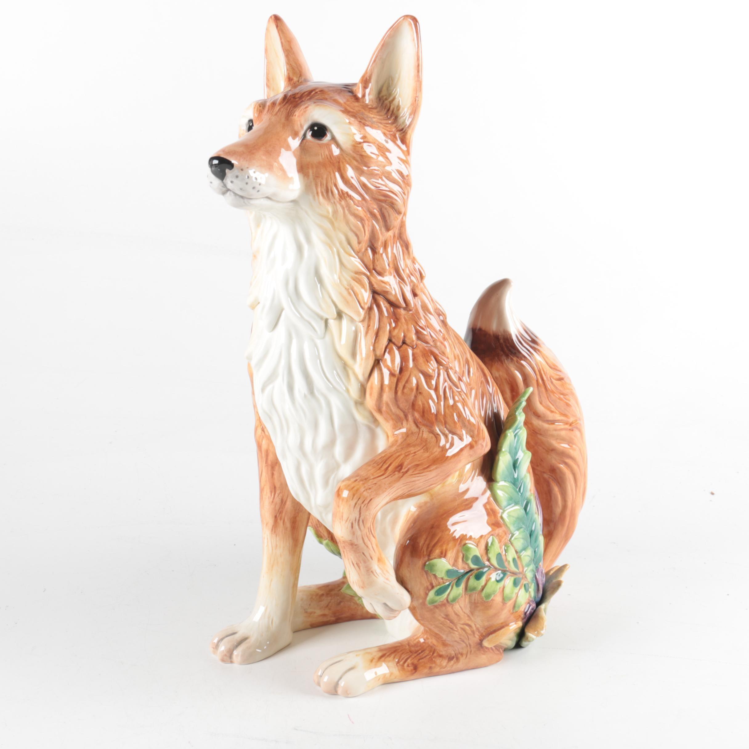 Fitz and Floyd Ceramic Fox